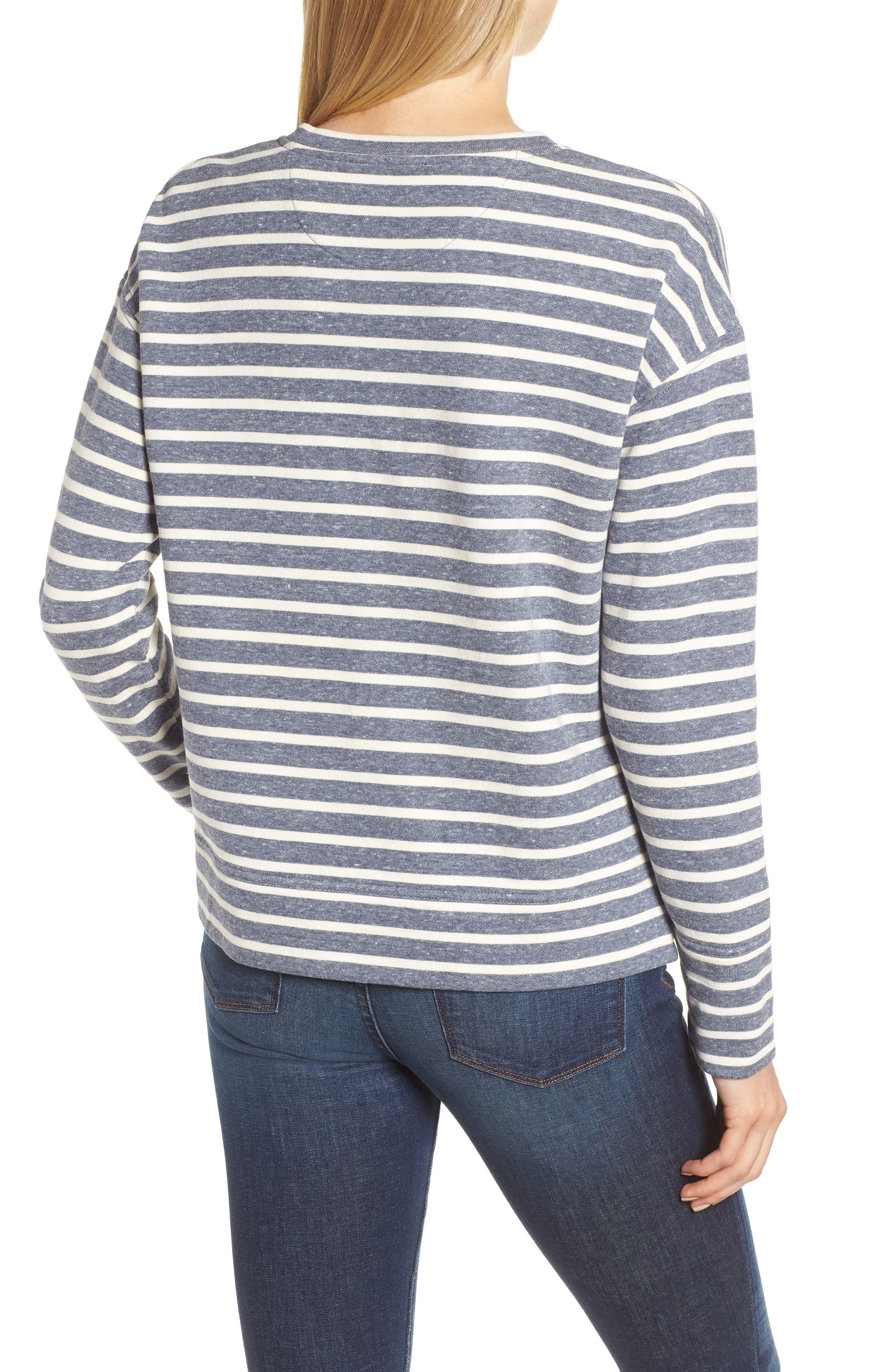 Stripe Sweatshirt,                             Alternate thumbnail 2, color,                             461
