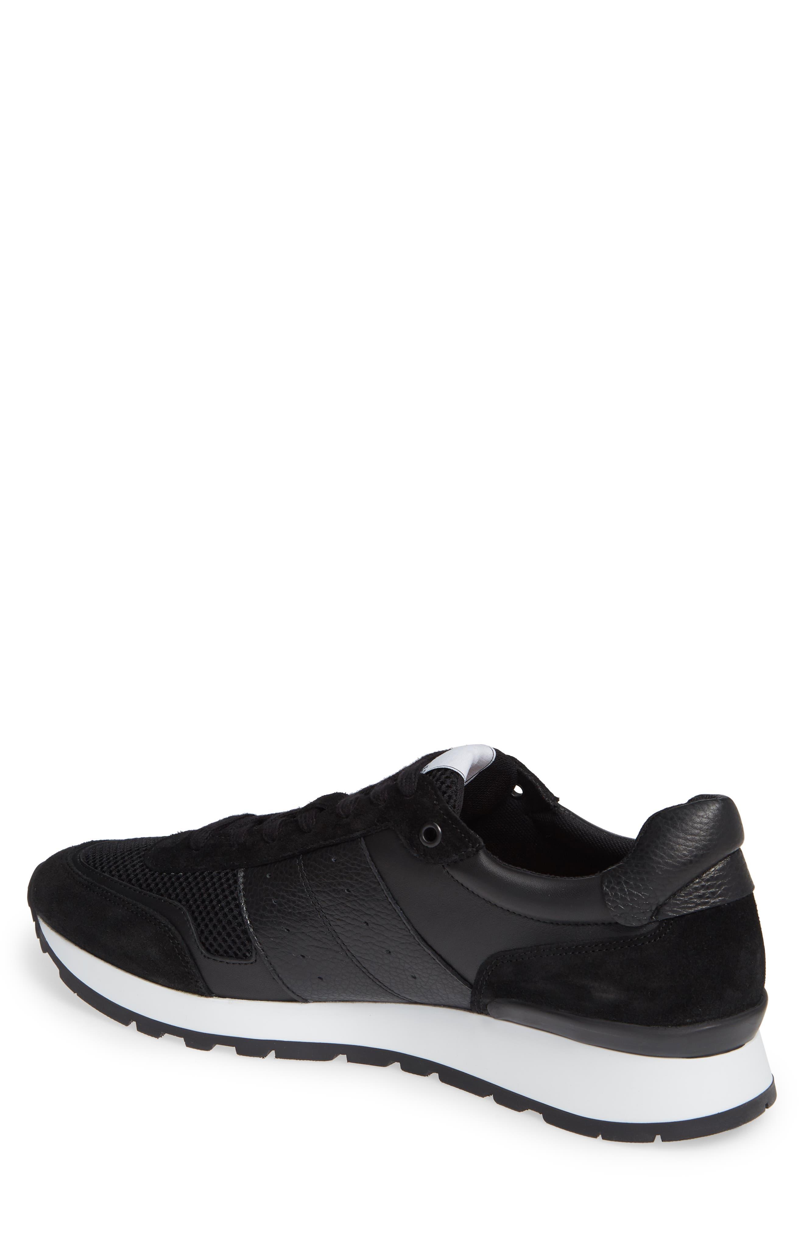 Frank Mix Runner Sneaker,                             Alternate thumbnail 2, color,                             BLACK