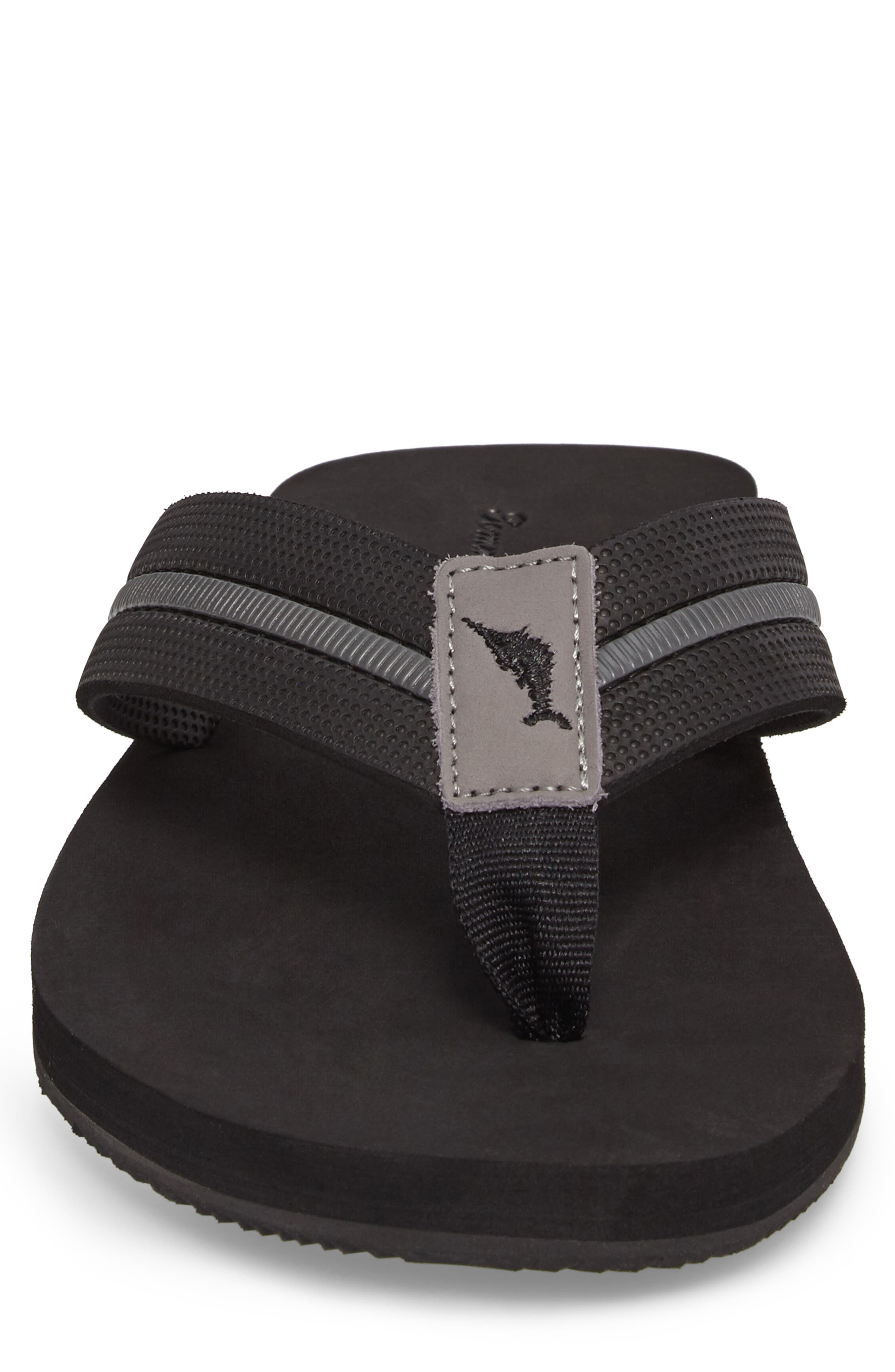 Taheeti Flip Flop,                             Alternate thumbnail 4, color,                             BLACK