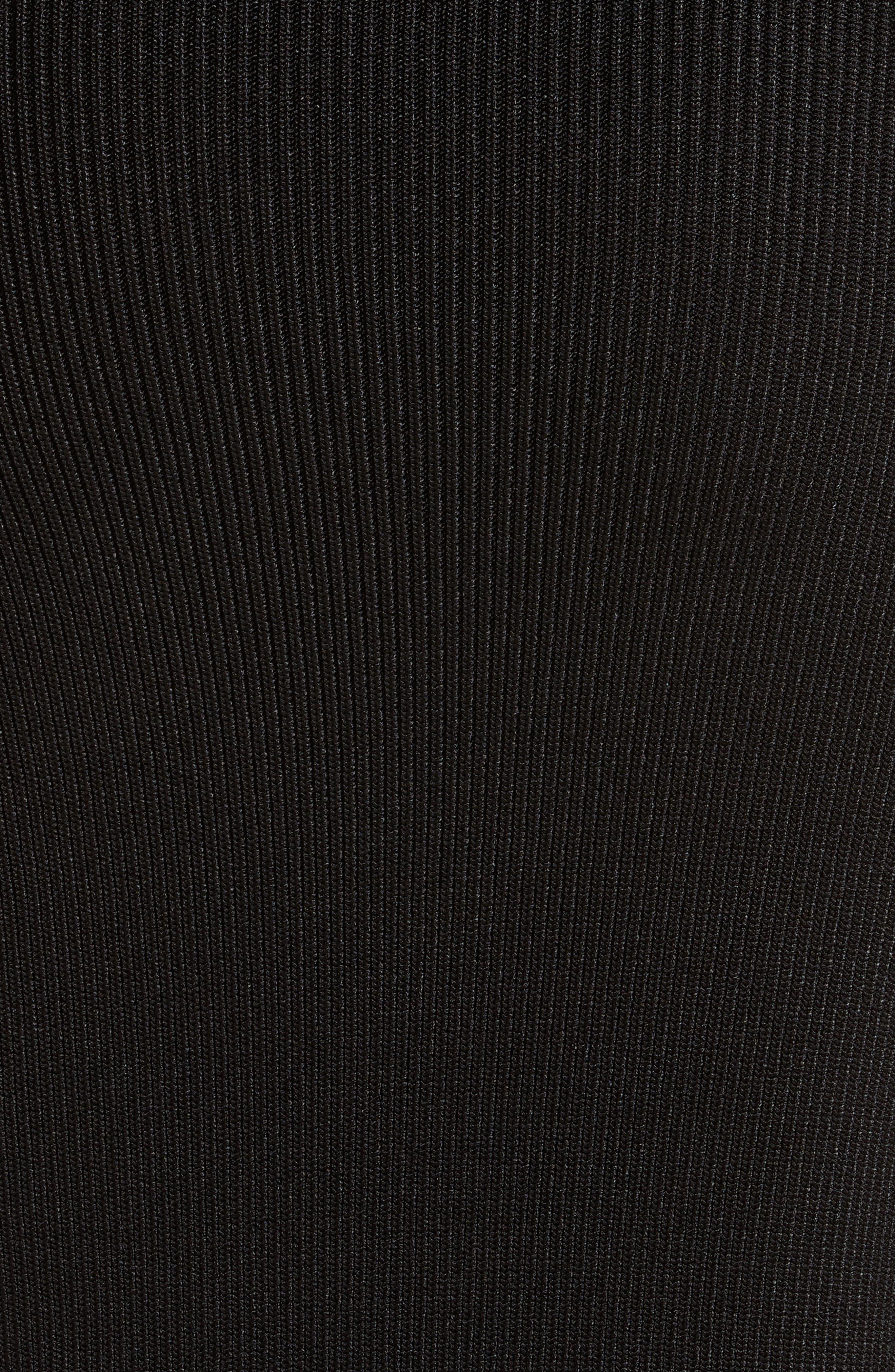 Drape Knit Dress,                             Alternate thumbnail 5, color,                             001
