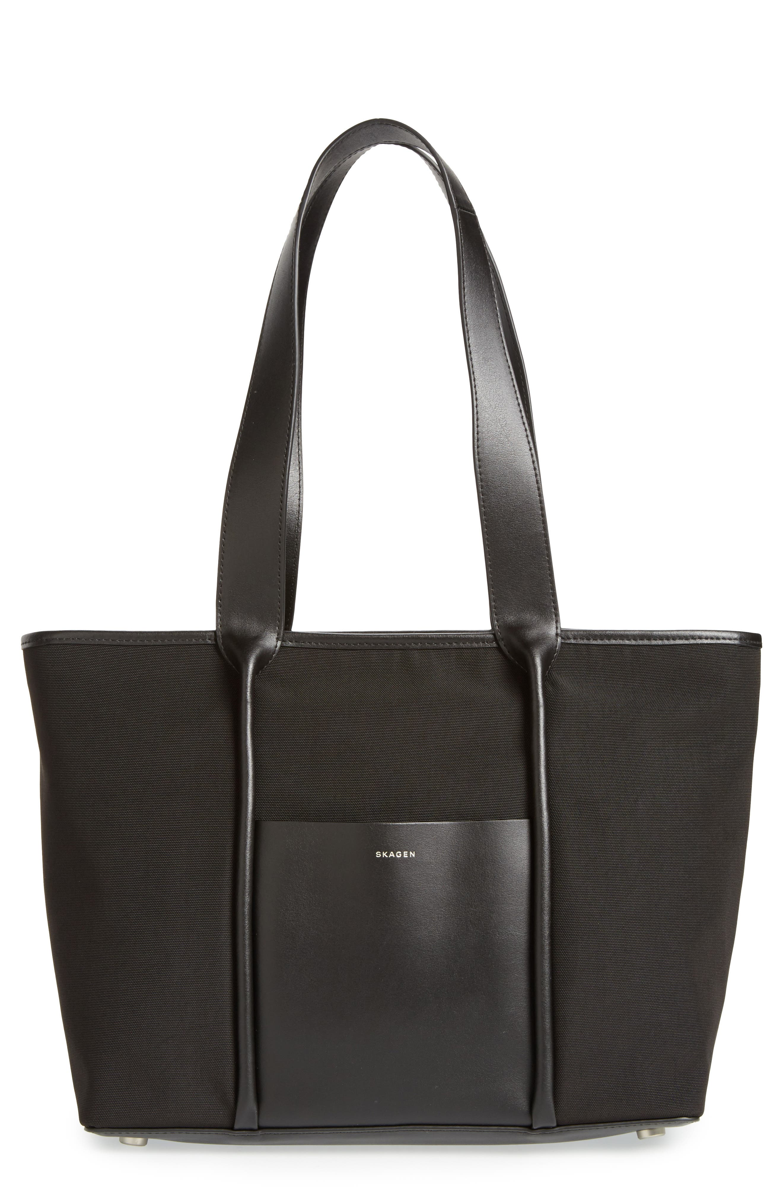 Lisabet Coated Twill Tote,                         Main,                         color, 001