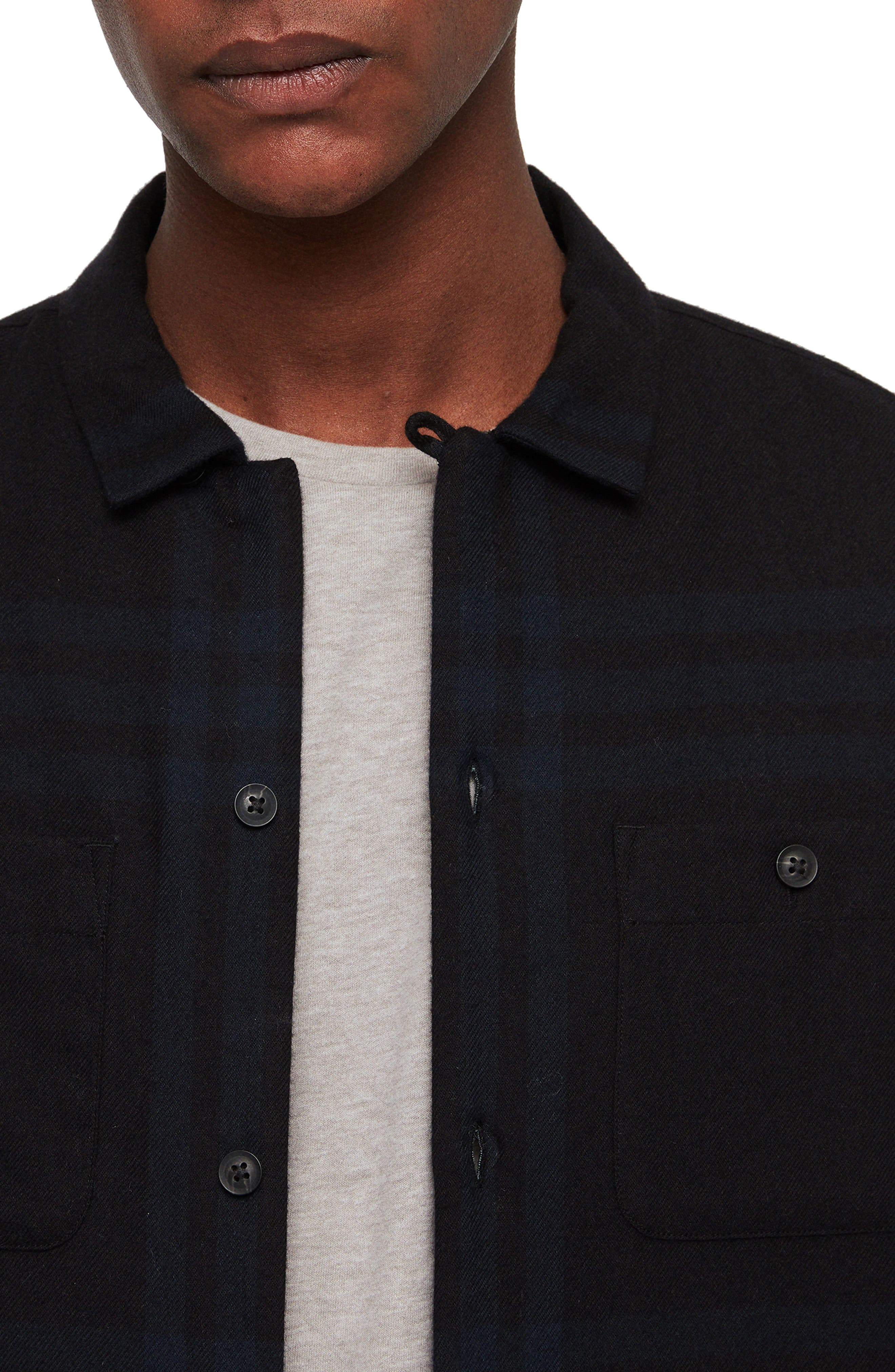 ALLSAINTS,                             Suring Regular Fit Sport Shirt,                             Alternate thumbnail 2, color,                             001