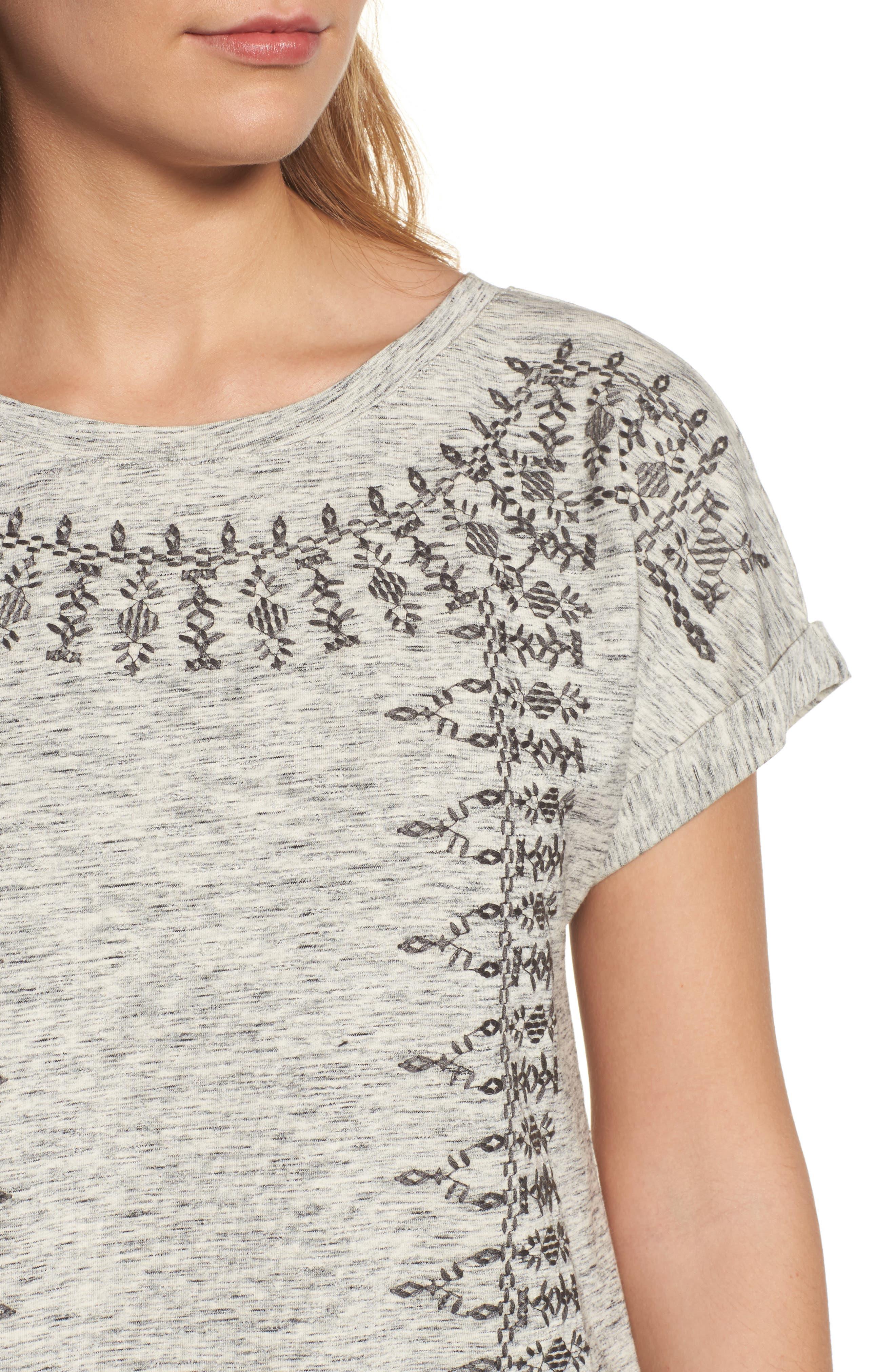 Henna Short Sleeve Top,                             Alternate thumbnail 4, color,                             050