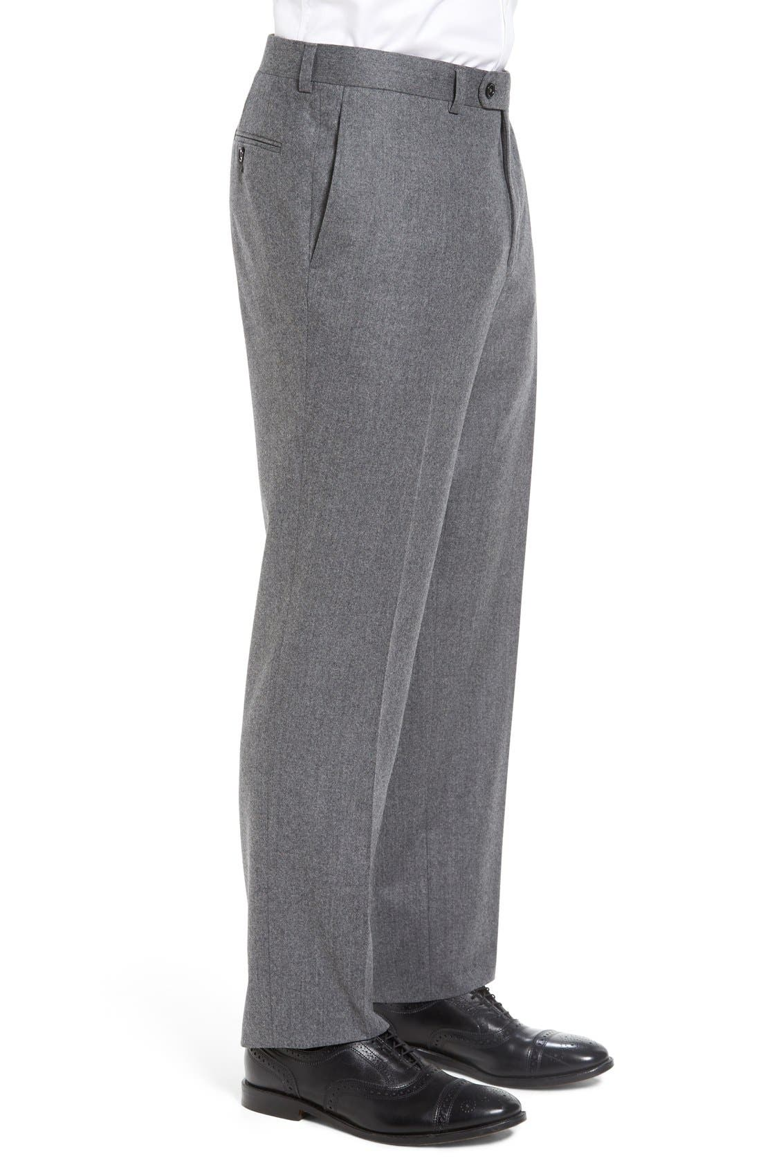 'Ryan' Classic Fit Trousers,                             Alternate thumbnail 4, color,                             020