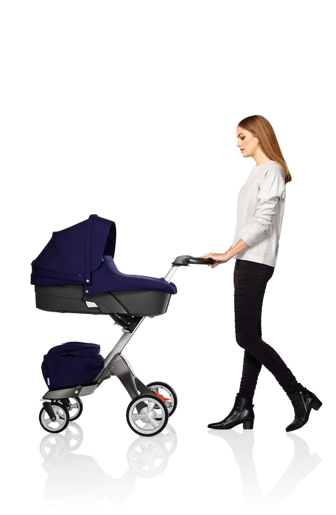 STOKKE,                             'Xplory<sup>®</sup>' Stroller Carry Cot,                             Alternate thumbnail 4, color,                             001