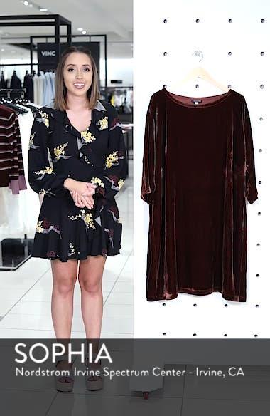 Velvet Shift Dress, sales video thumbnail