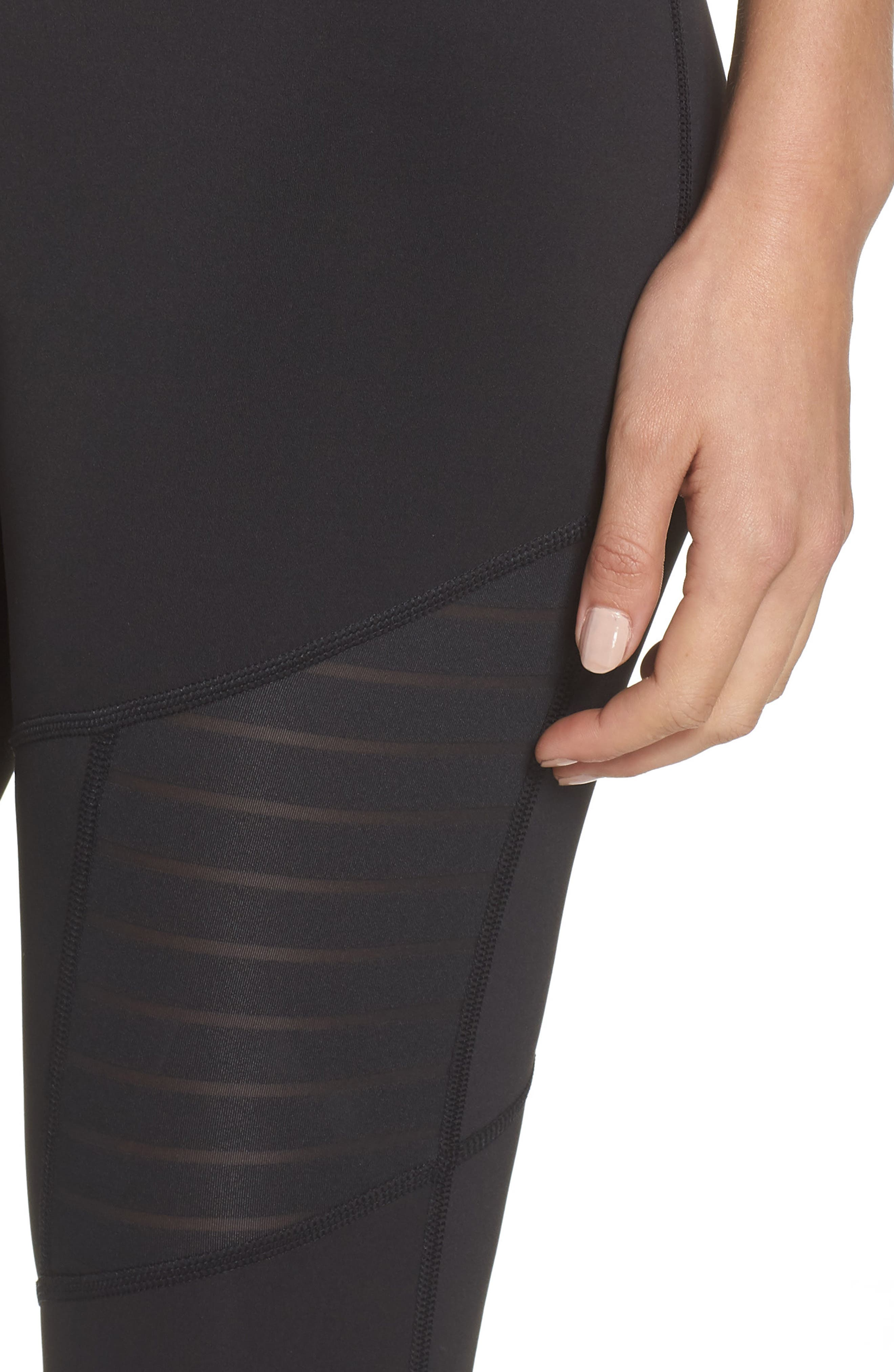 Mesh Leggings,                             Alternate thumbnail 4, color,                             005
