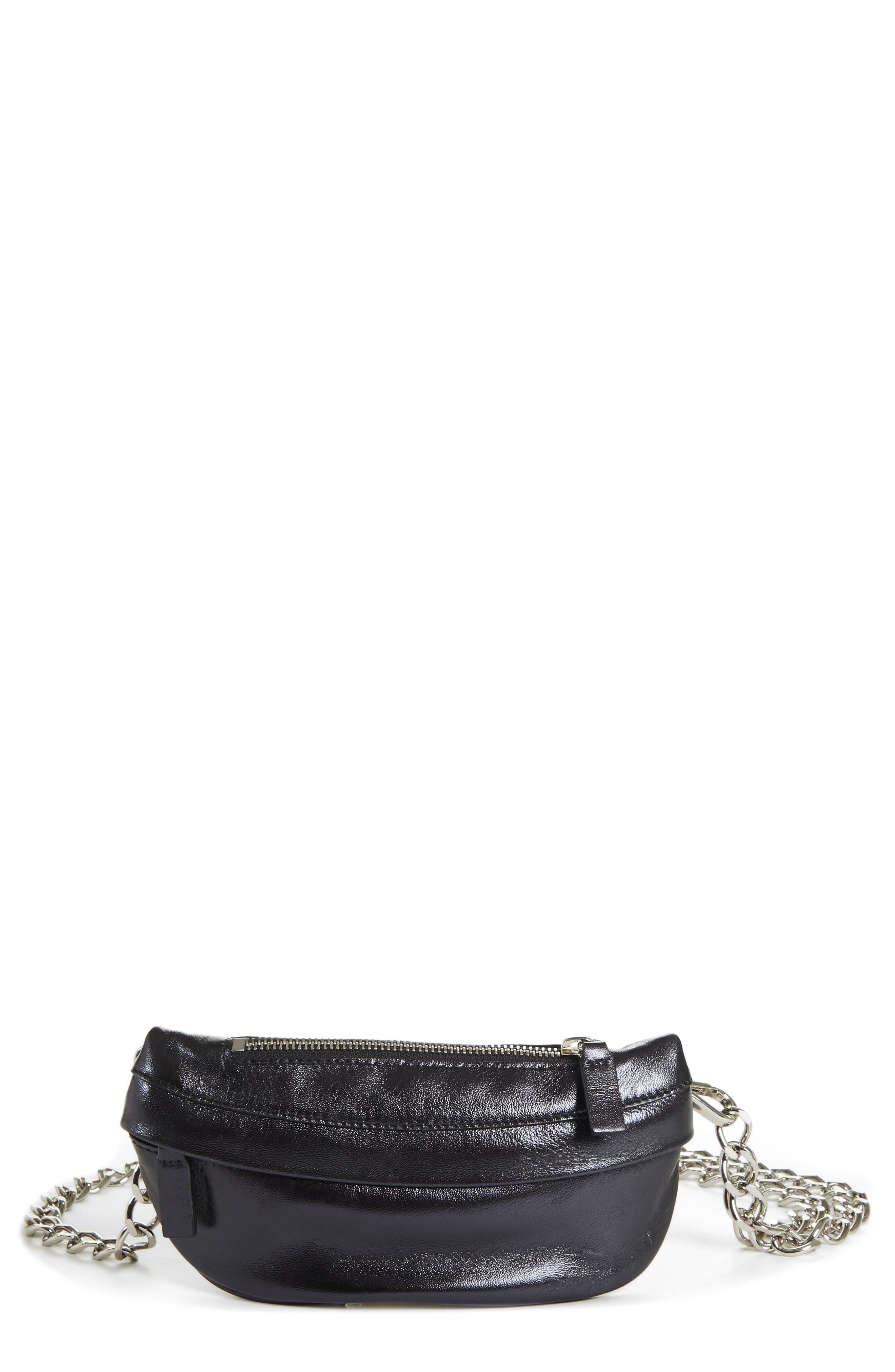 AVEC LA TROUPE Mini Metallic Troupe Convertible Belt Bag - Black