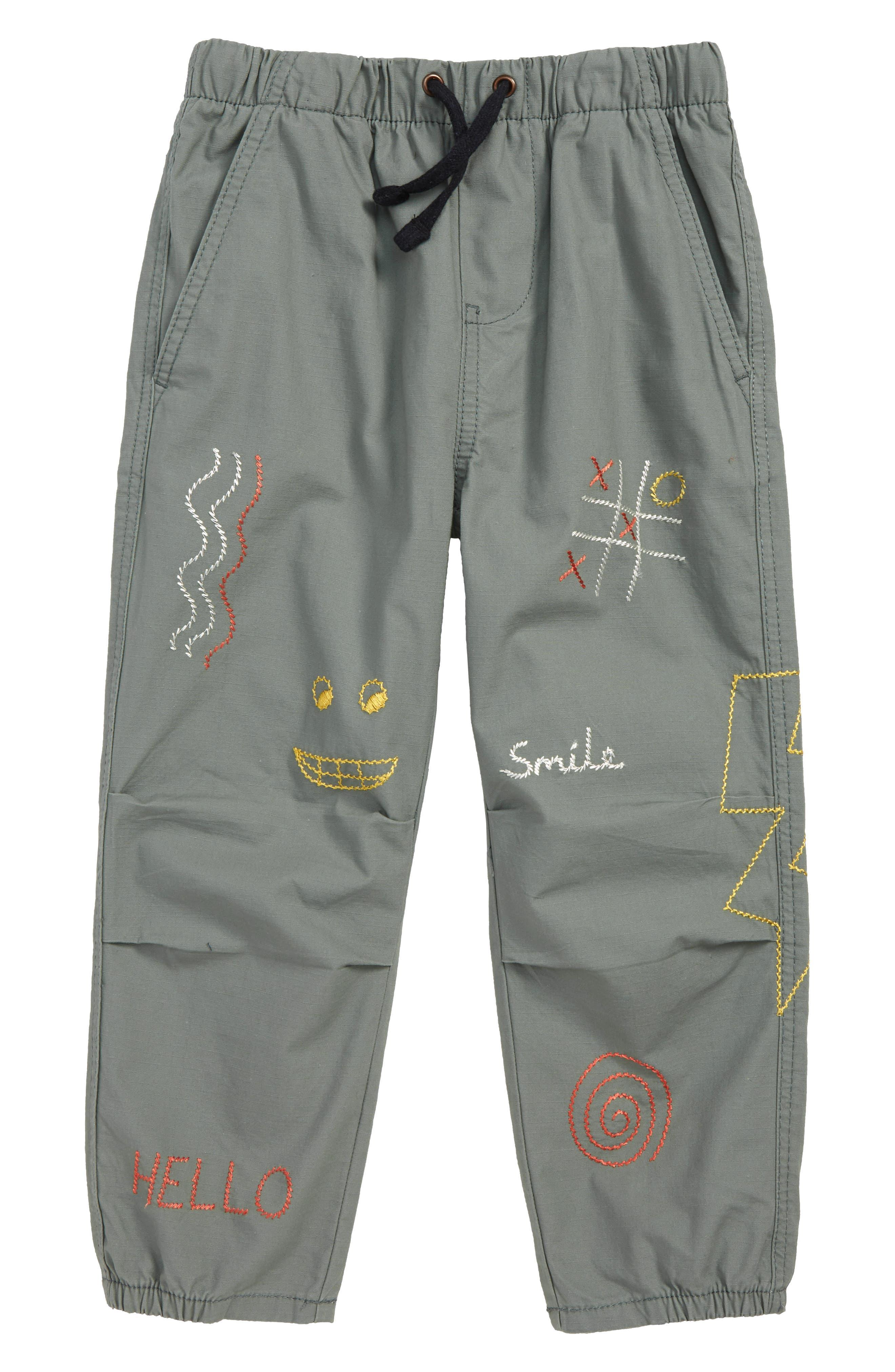 Girls Stem Embroidered Dart Pants