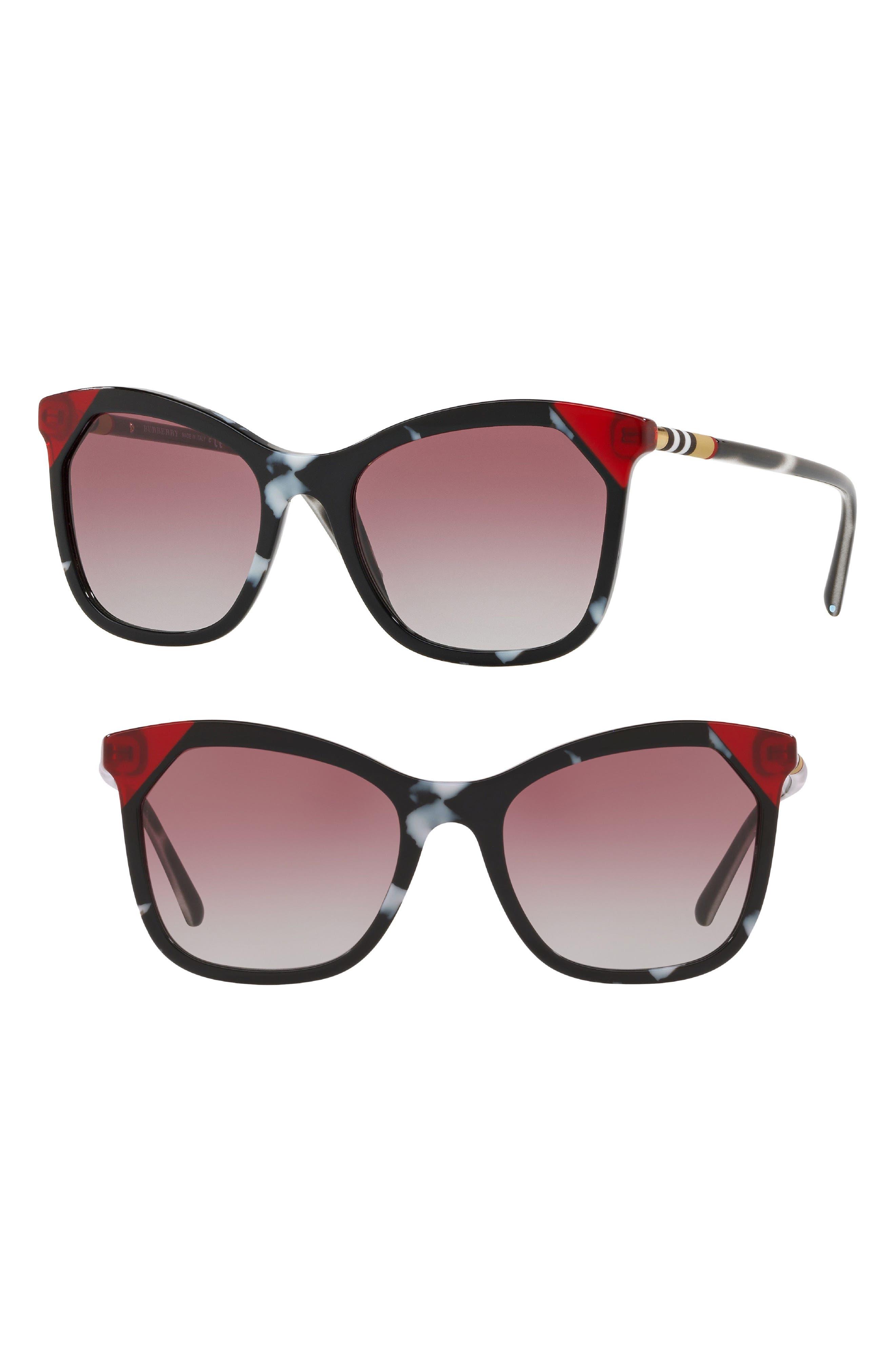 Heritage 54mm Square Sunglasses,                             Main thumbnail 1, color,                             111