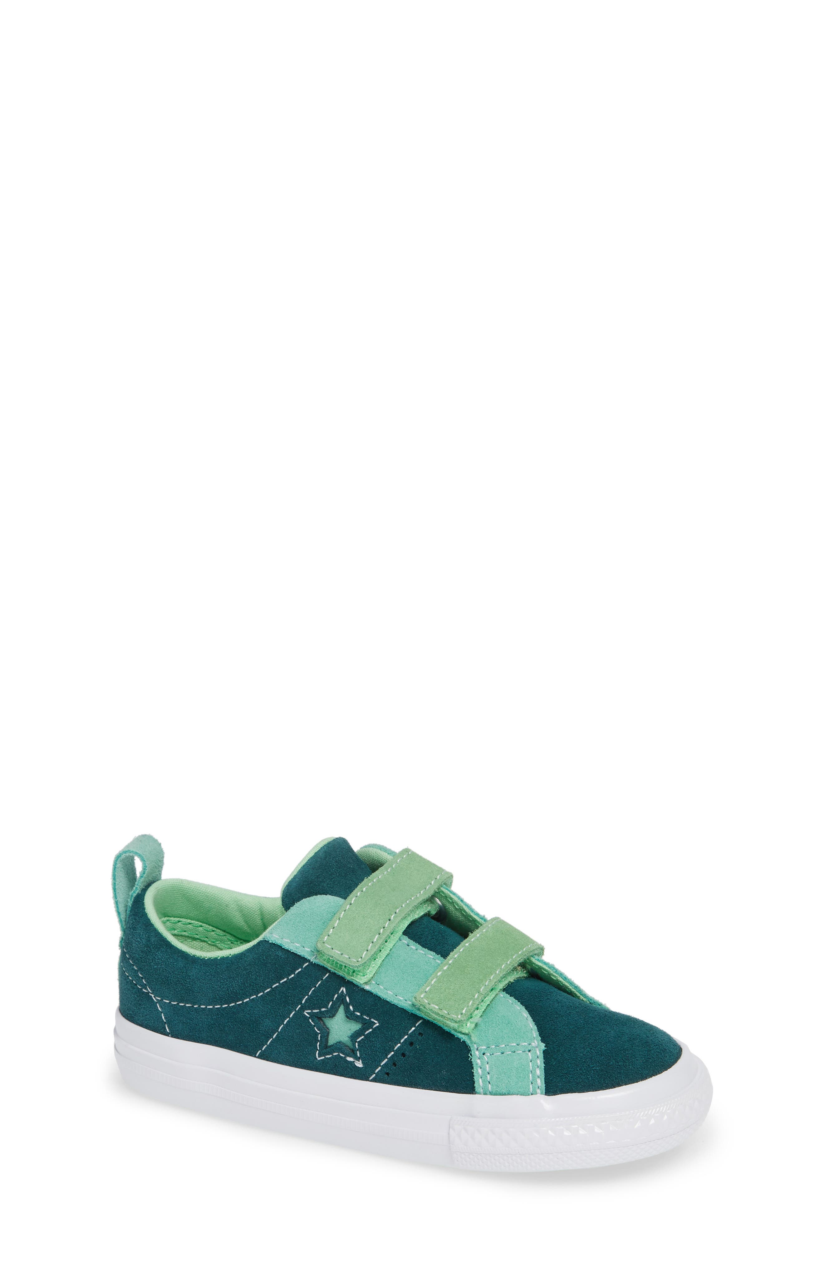 toddler boy's converse one star carnival 2v sneakers, size 9 m - green
