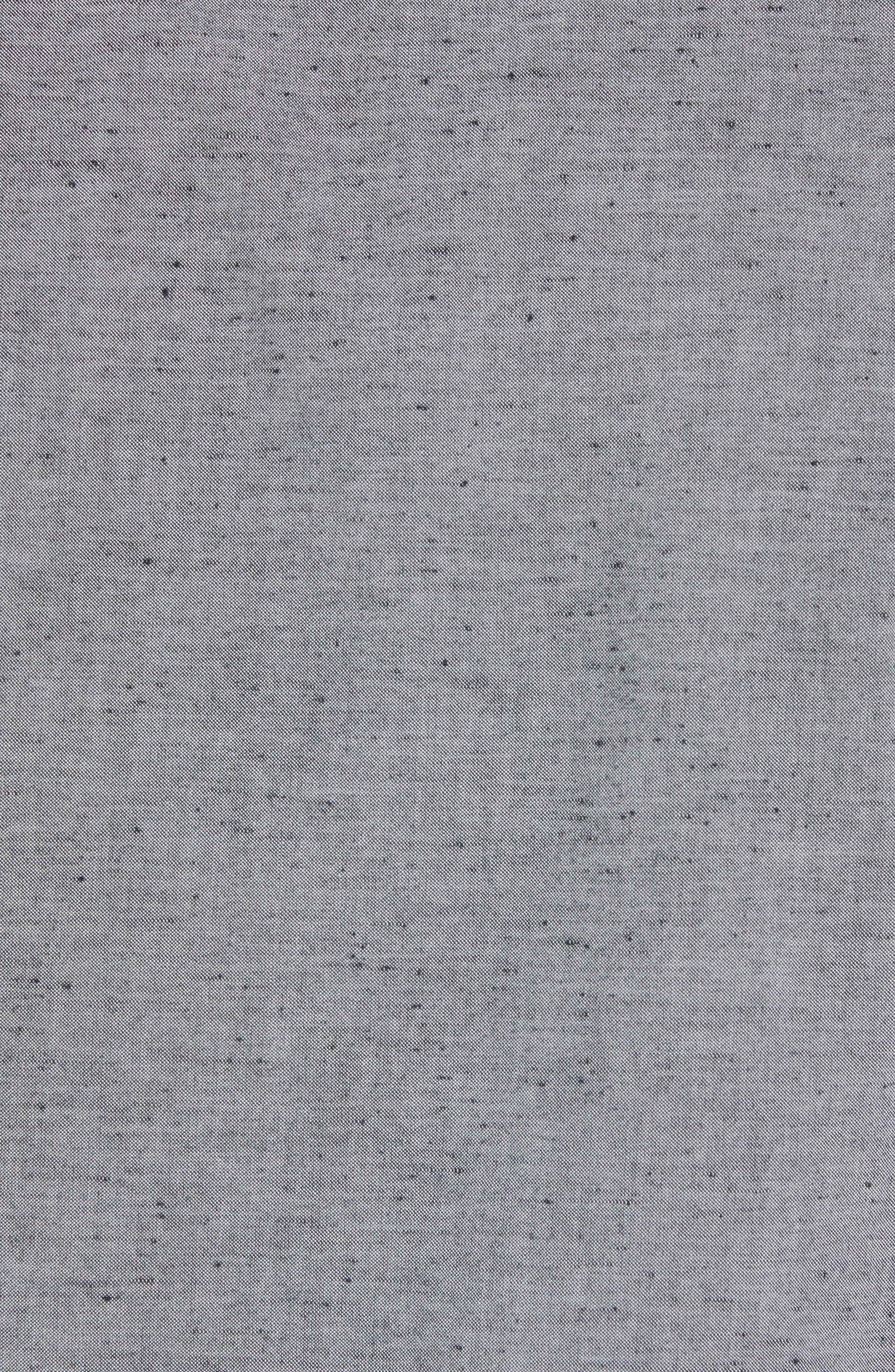 Workwear Chambray Sport Shirt,                             Alternate thumbnail 5, color,                             GREY ONYX NEP CHAMBRAY