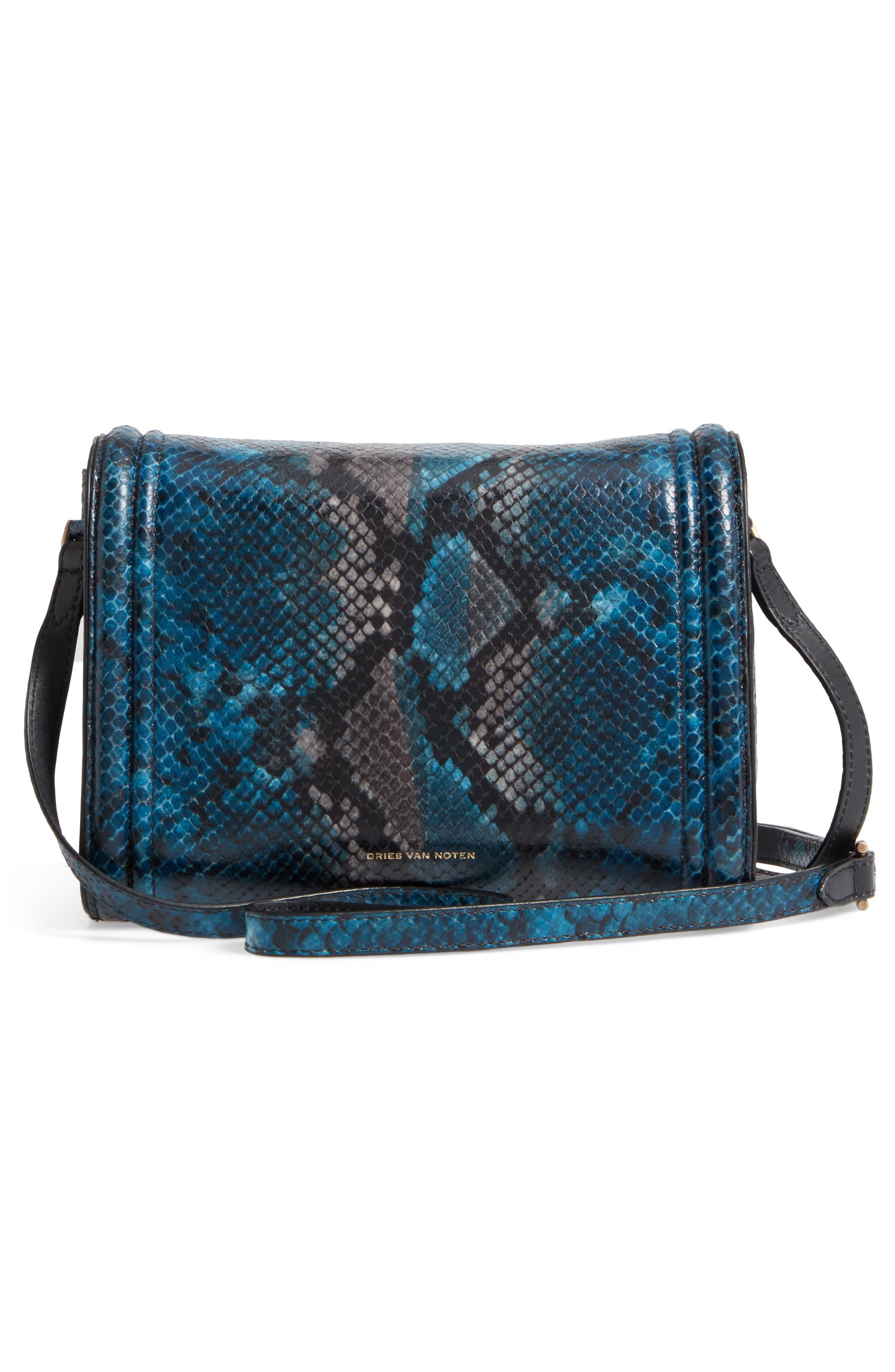 Snake Embossed Crossbody Bag,                             Alternate thumbnail 3, color,
