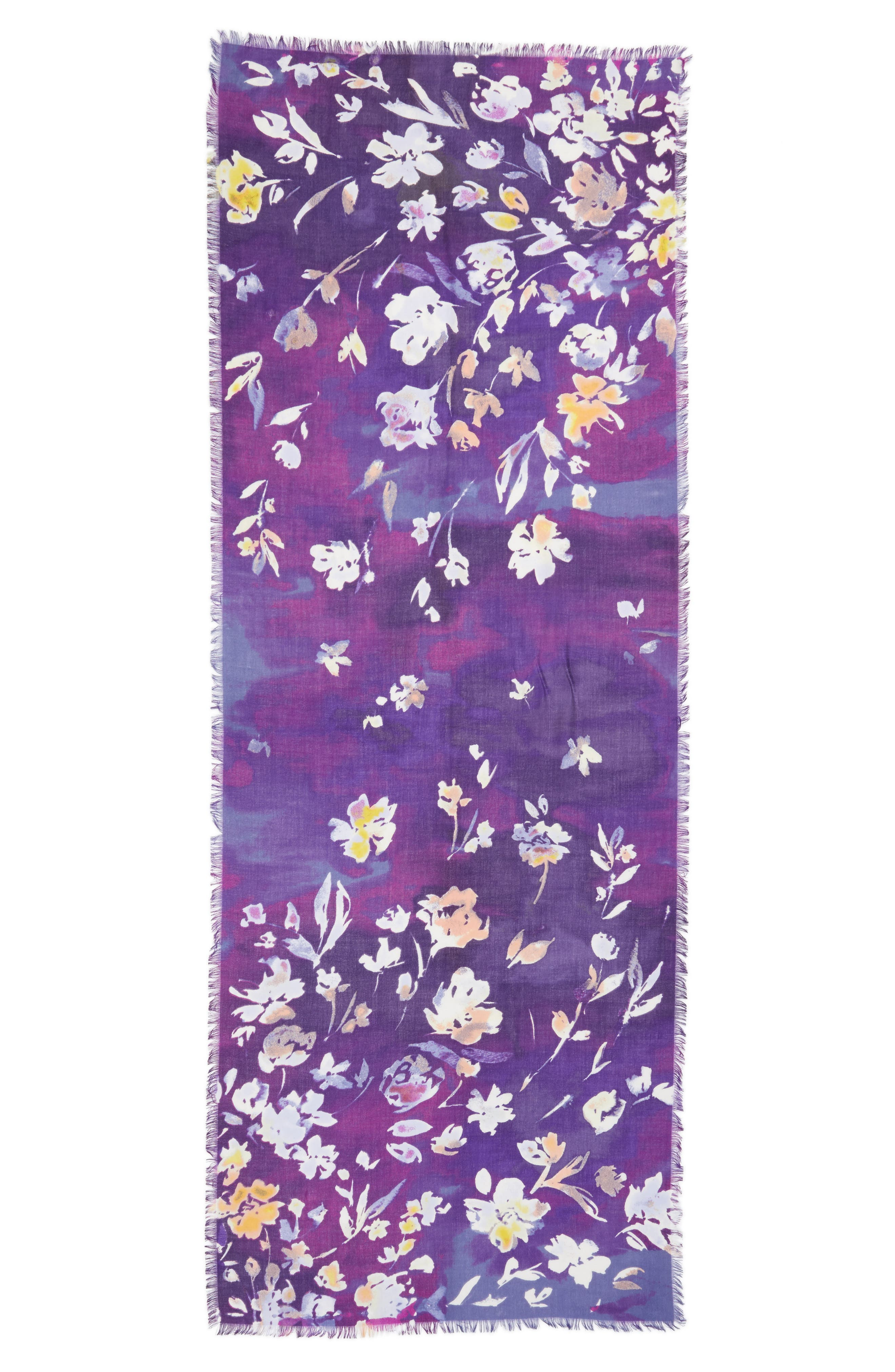Musical Flower Cashmere & Silk Scarf,                             Alternate thumbnail 8, color,