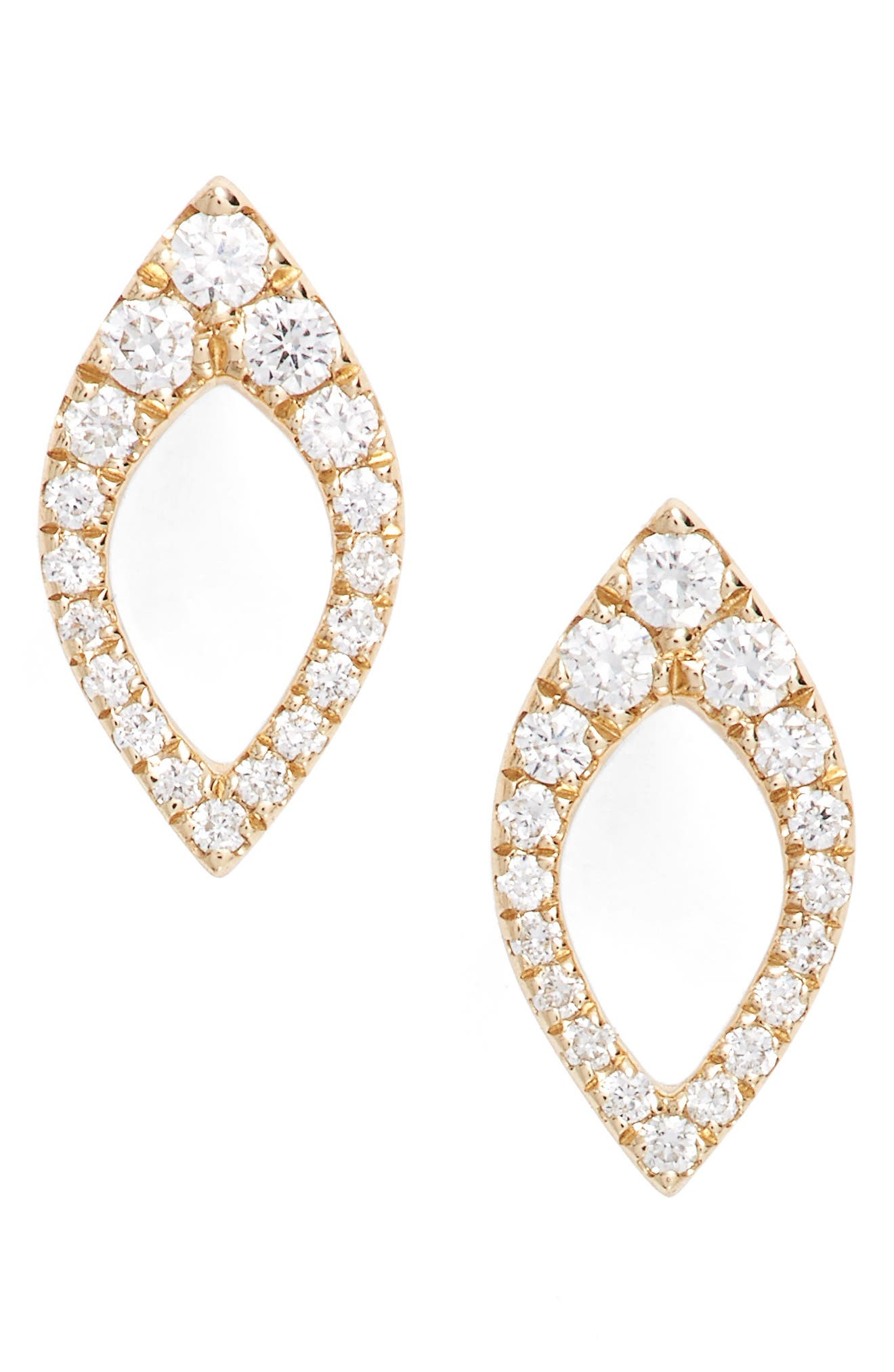 Marquise Diamond Studs,                         Main,                         color, 710