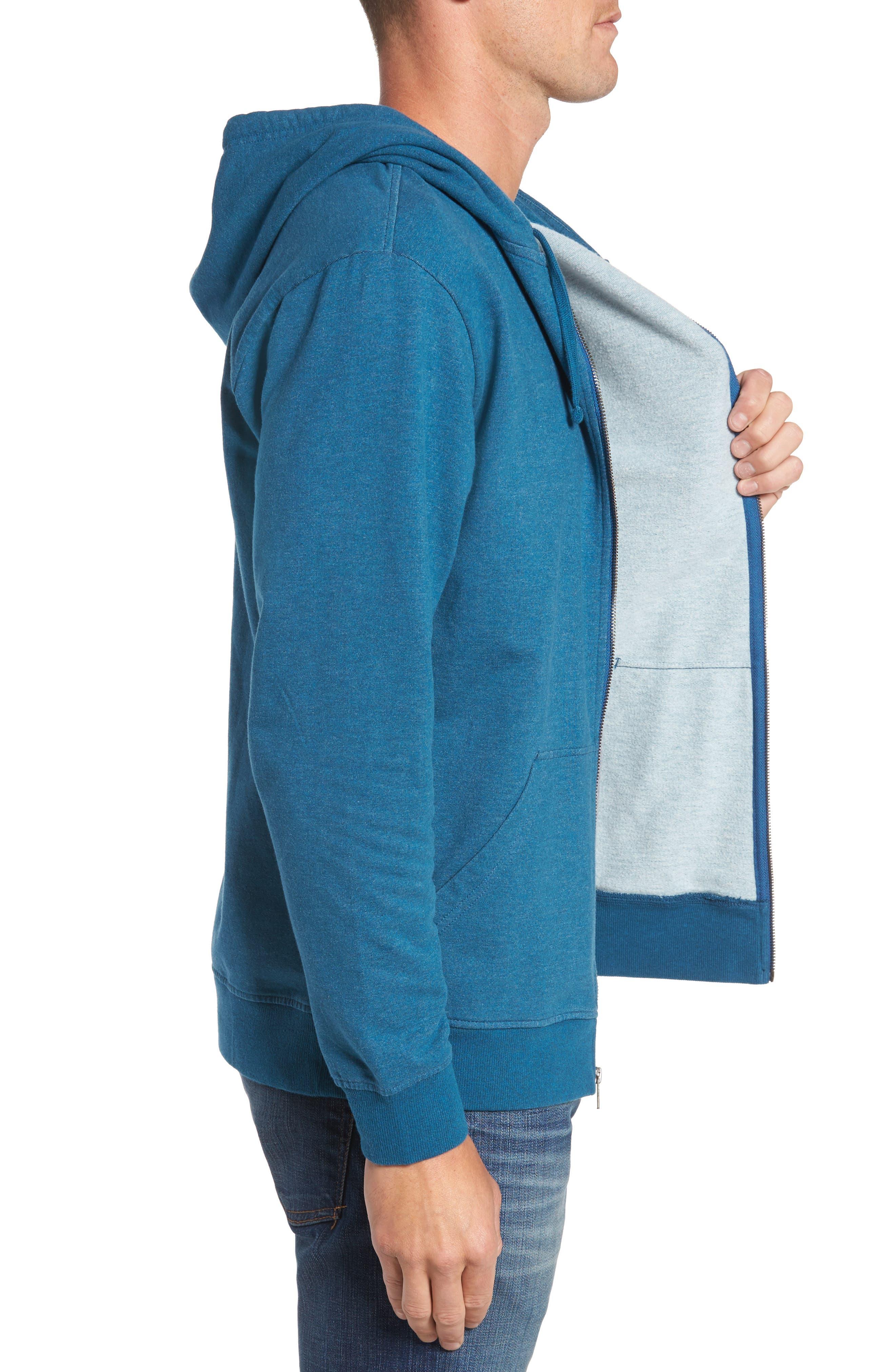 P-6 Logo Modern Fit Zip Hoodie,                             Alternate thumbnail 8, color,