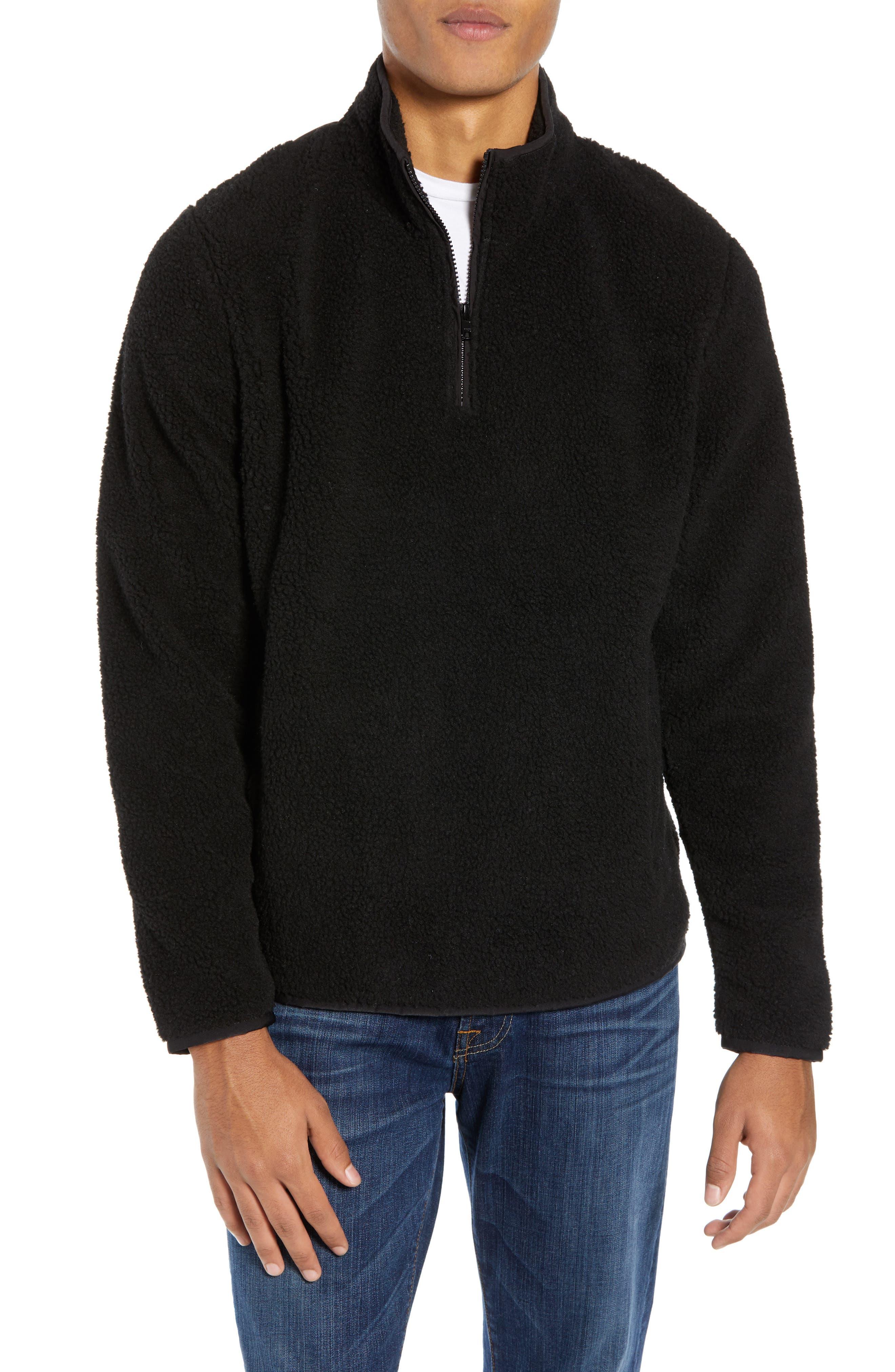 Nordstrom Shop Quarter Zip Fleece Pullover