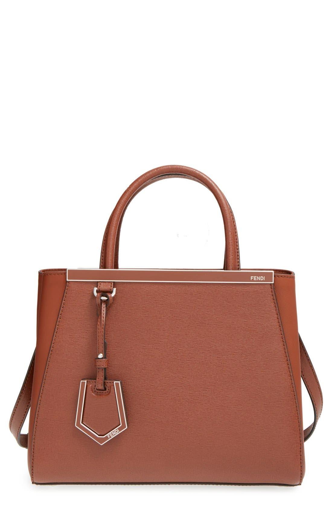 'Petite 2Jours Elite' Leather Shopper,                             Main thumbnail 6, color,
