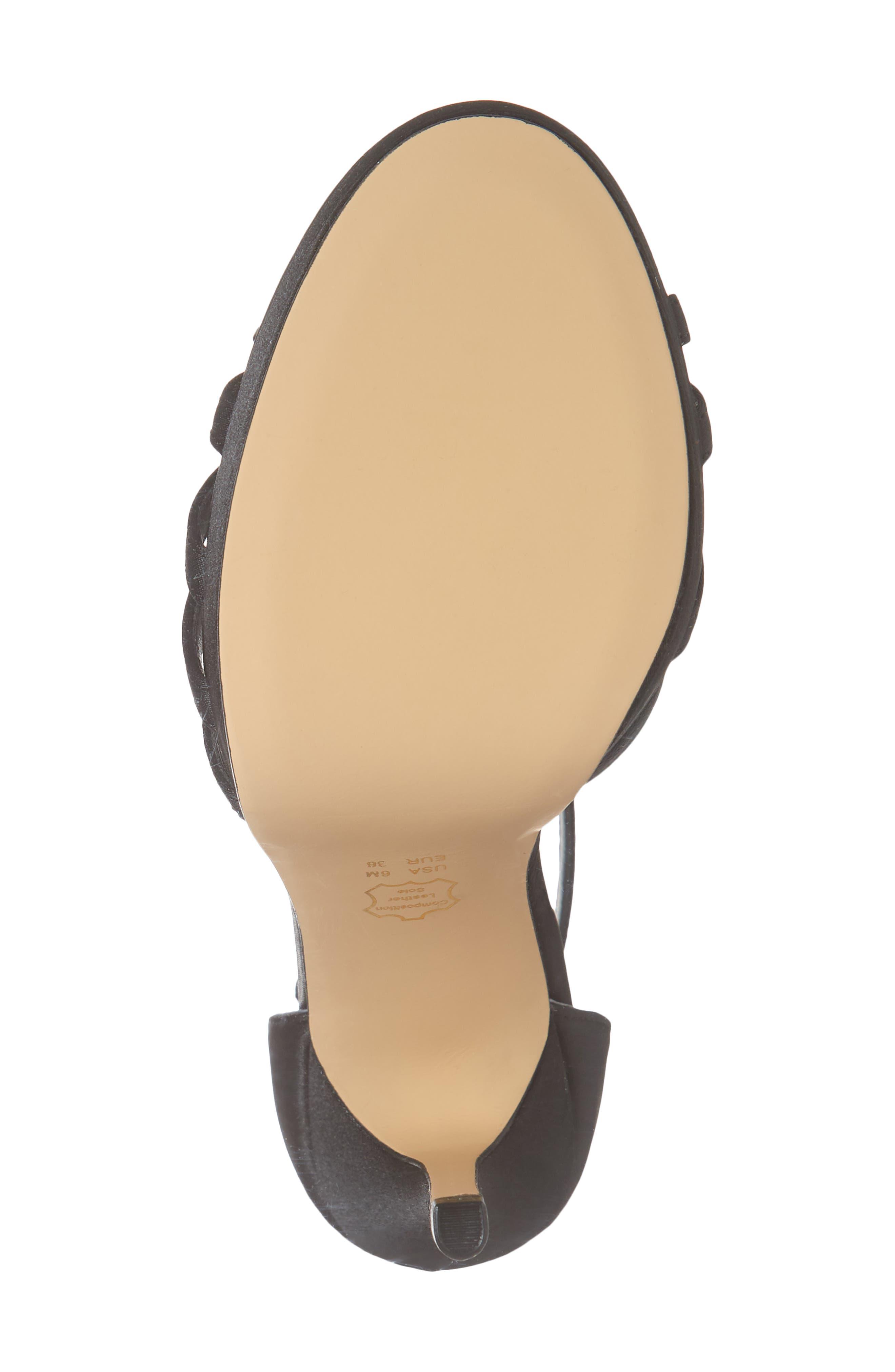 NINA,                             Falynne T-Strap Platform Sandal,                             Alternate thumbnail 6, color,                             003