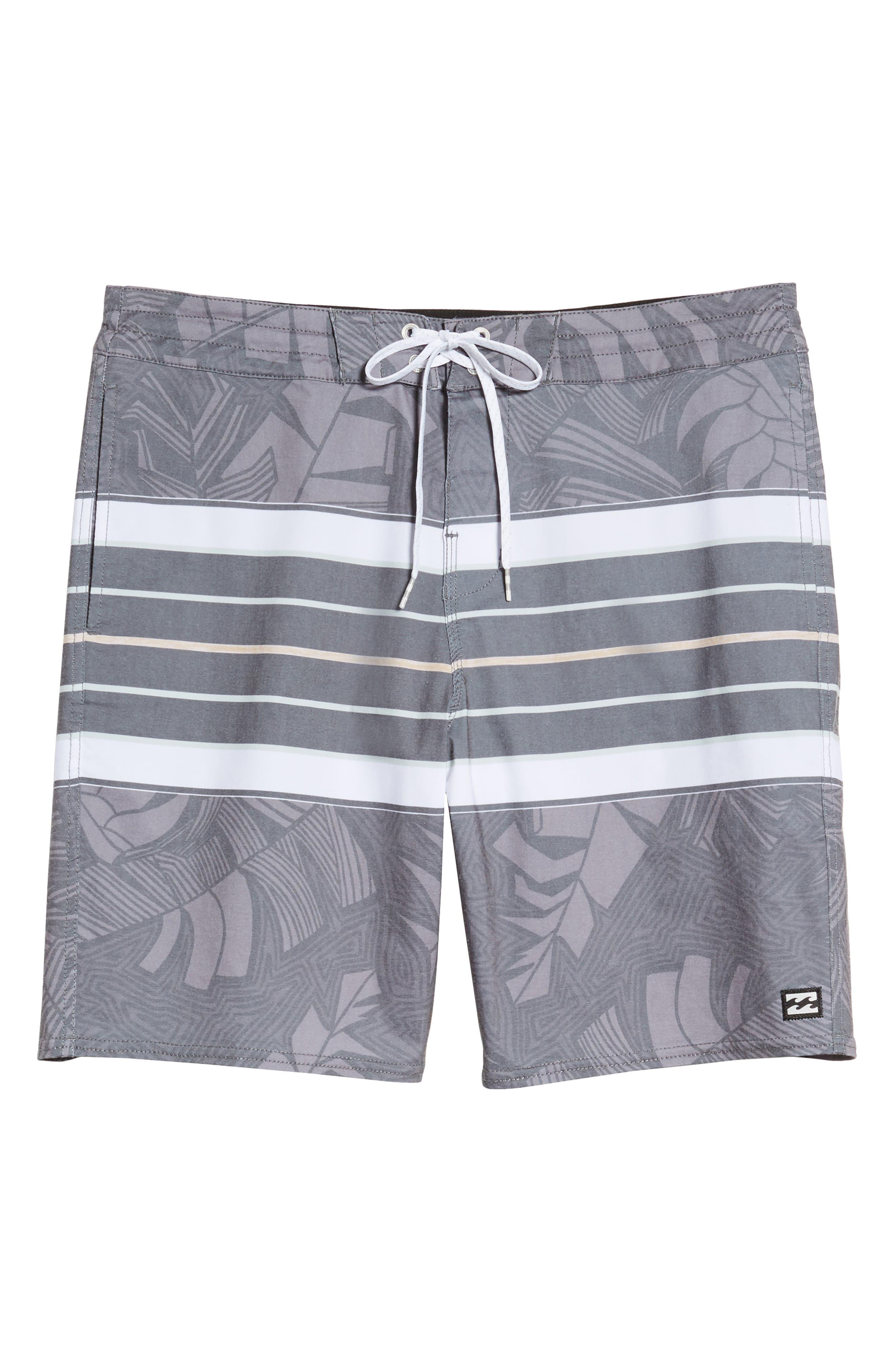 Stringer Lo Tides Board Shorts,                             Alternate thumbnail 6, color,                             001