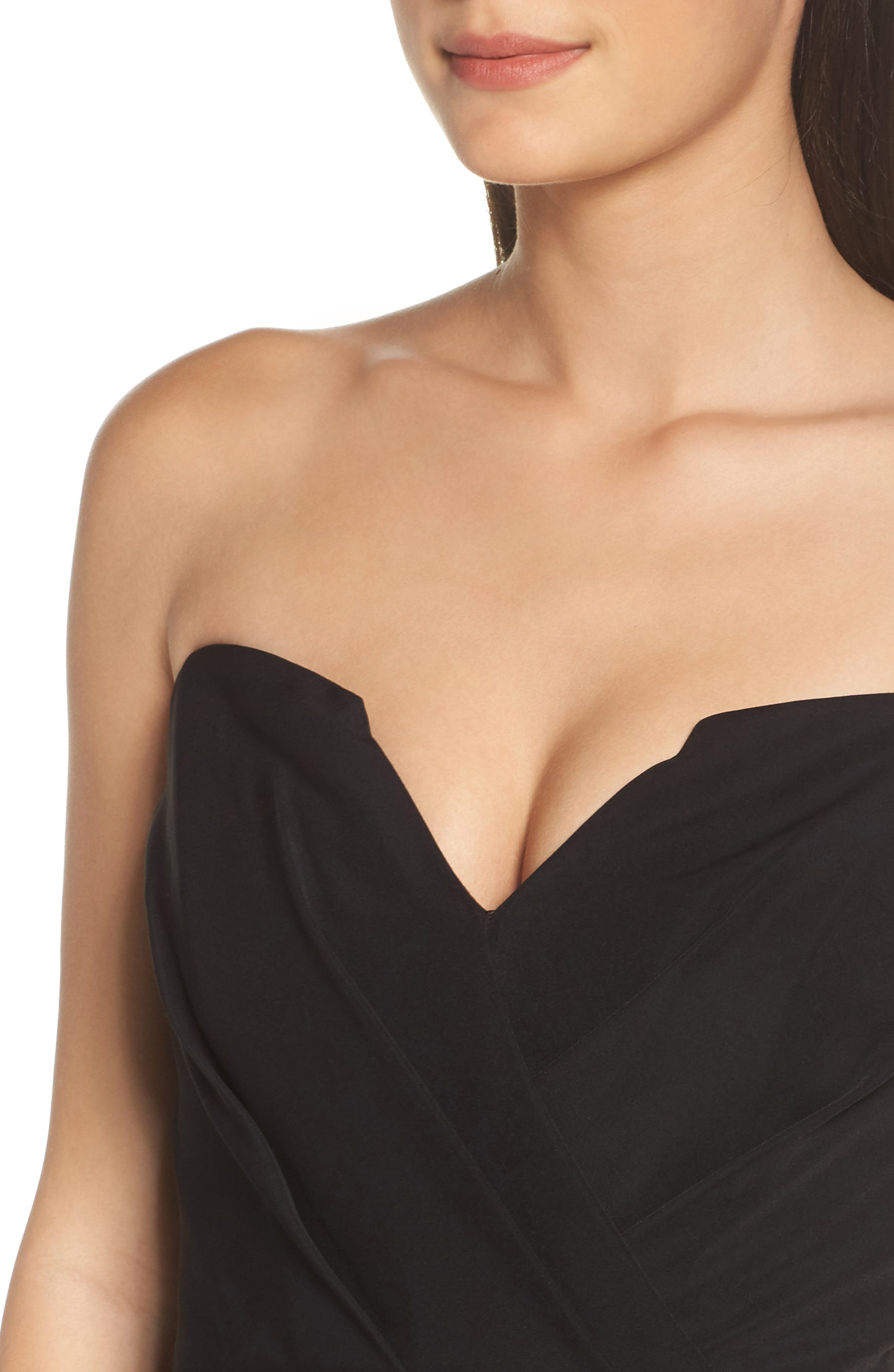 Loren Strapless Asymmetric Dress,                             Alternate thumbnail 4, color,