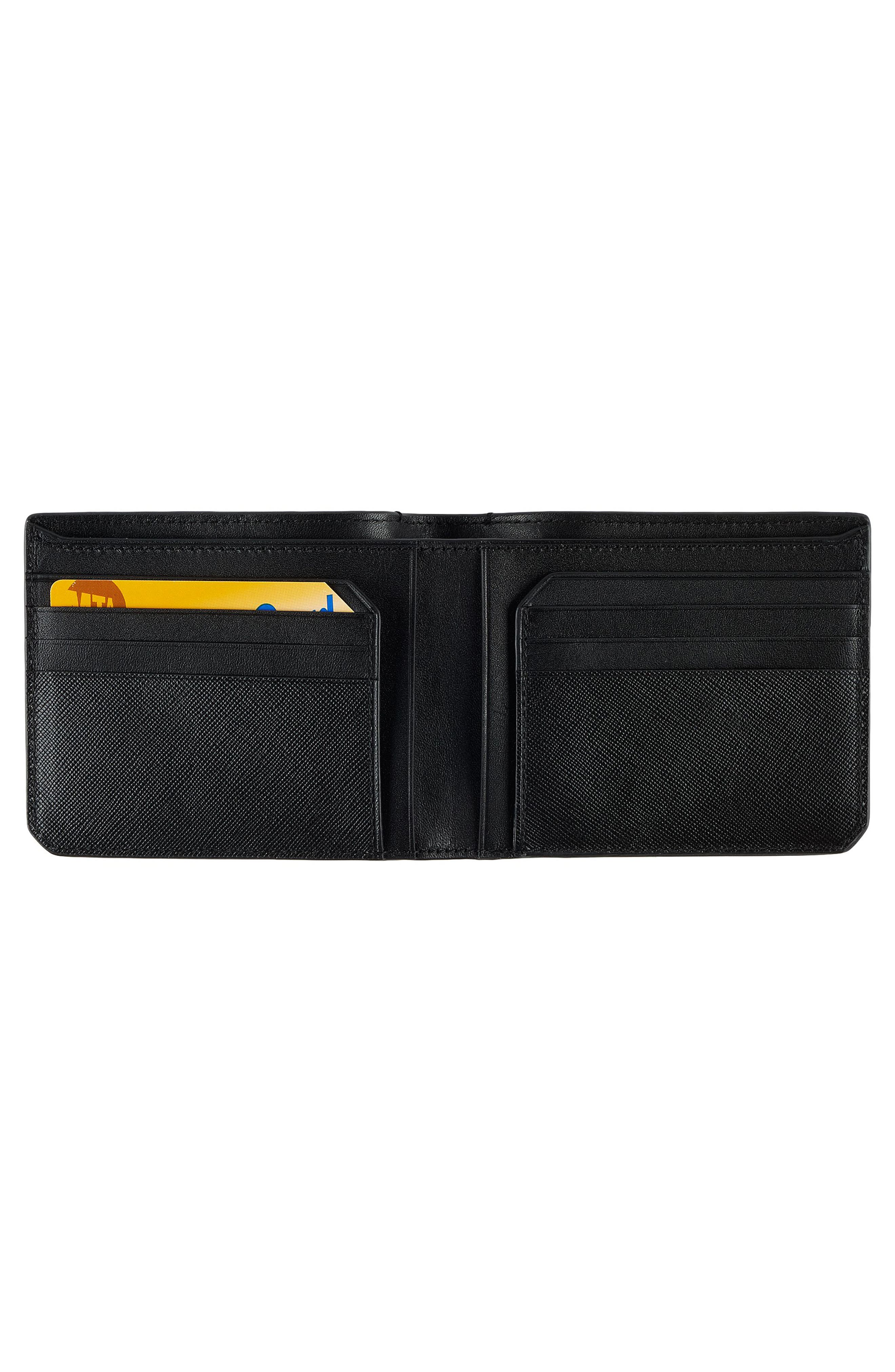 Leather Wallet,                             Alternate thumbnail 4, color,                             001