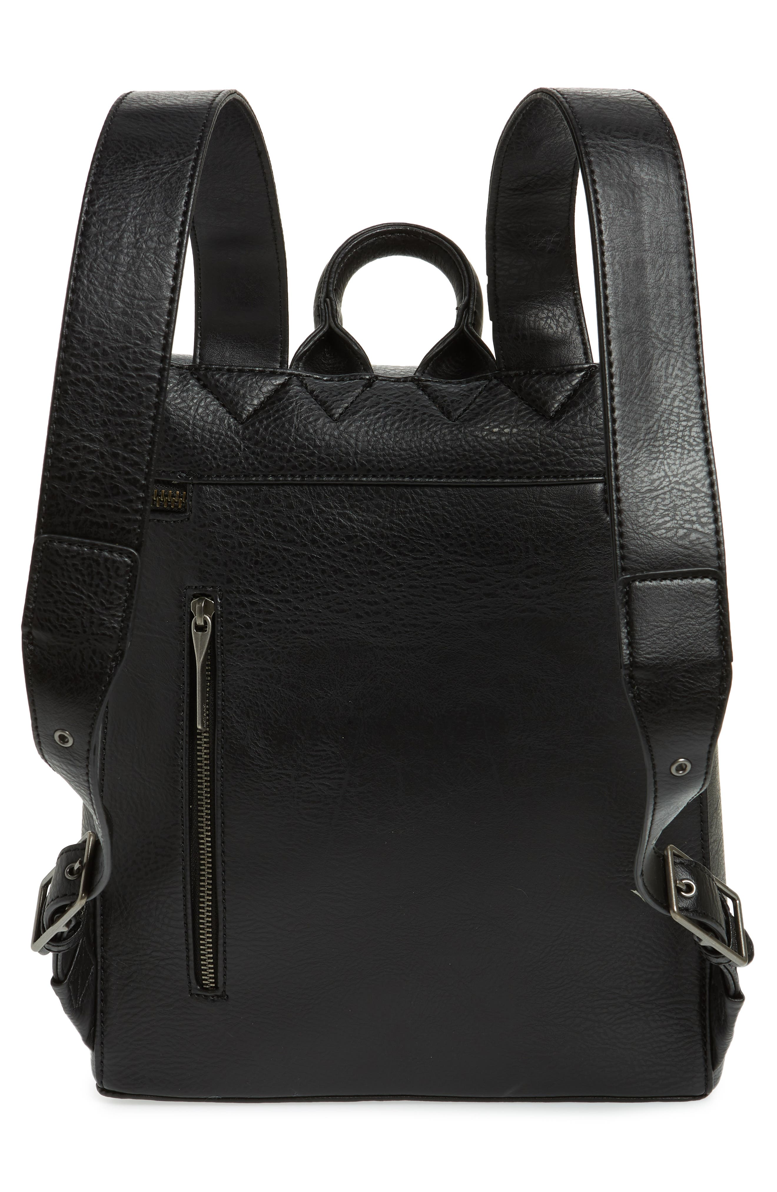 Rahi Faux Leather Backpack,                             Alternate thumbnail 3, color,                             001