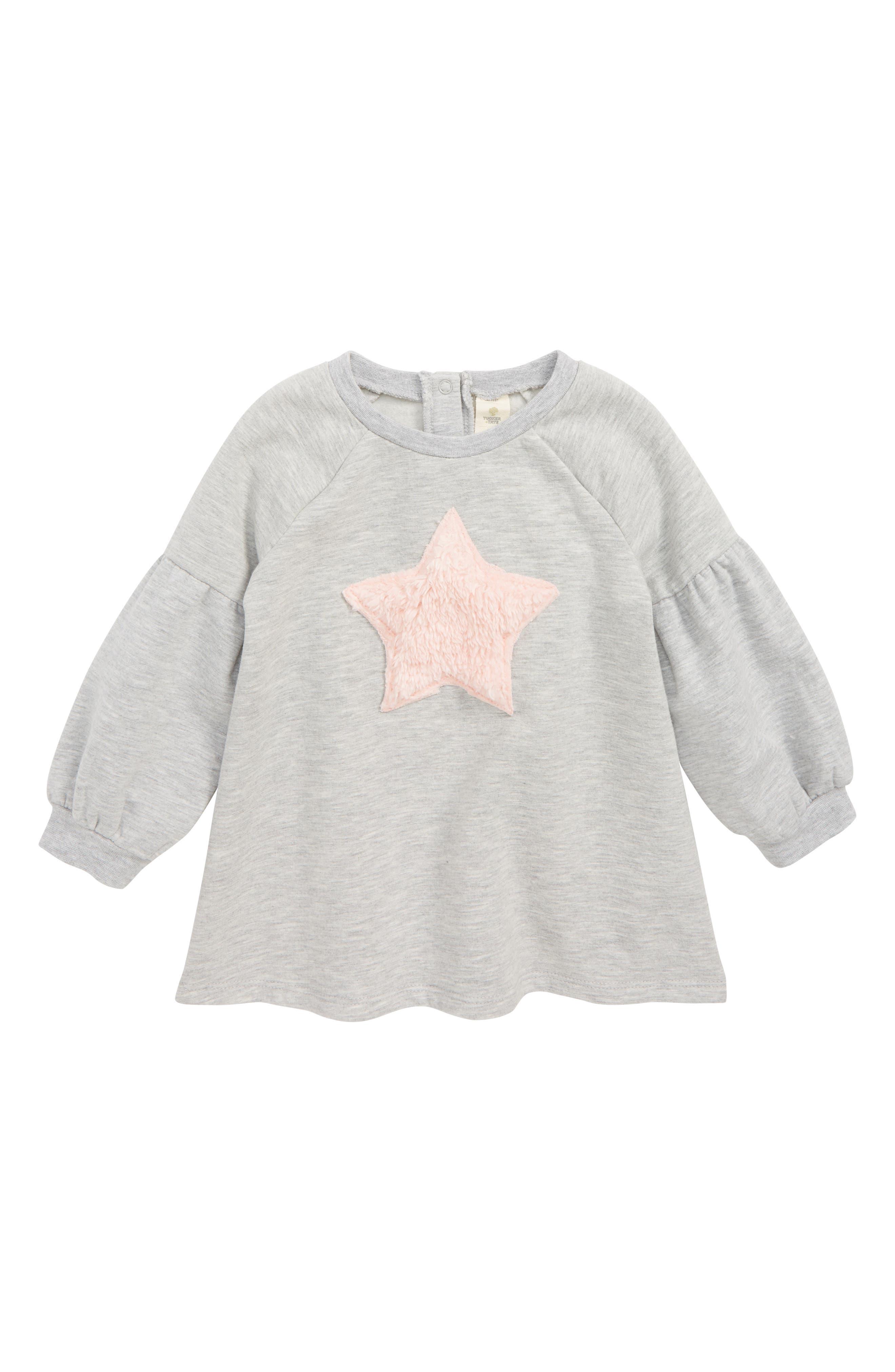 Infant Girls Tucker  Tate Applique Dress Size 18M  Grey