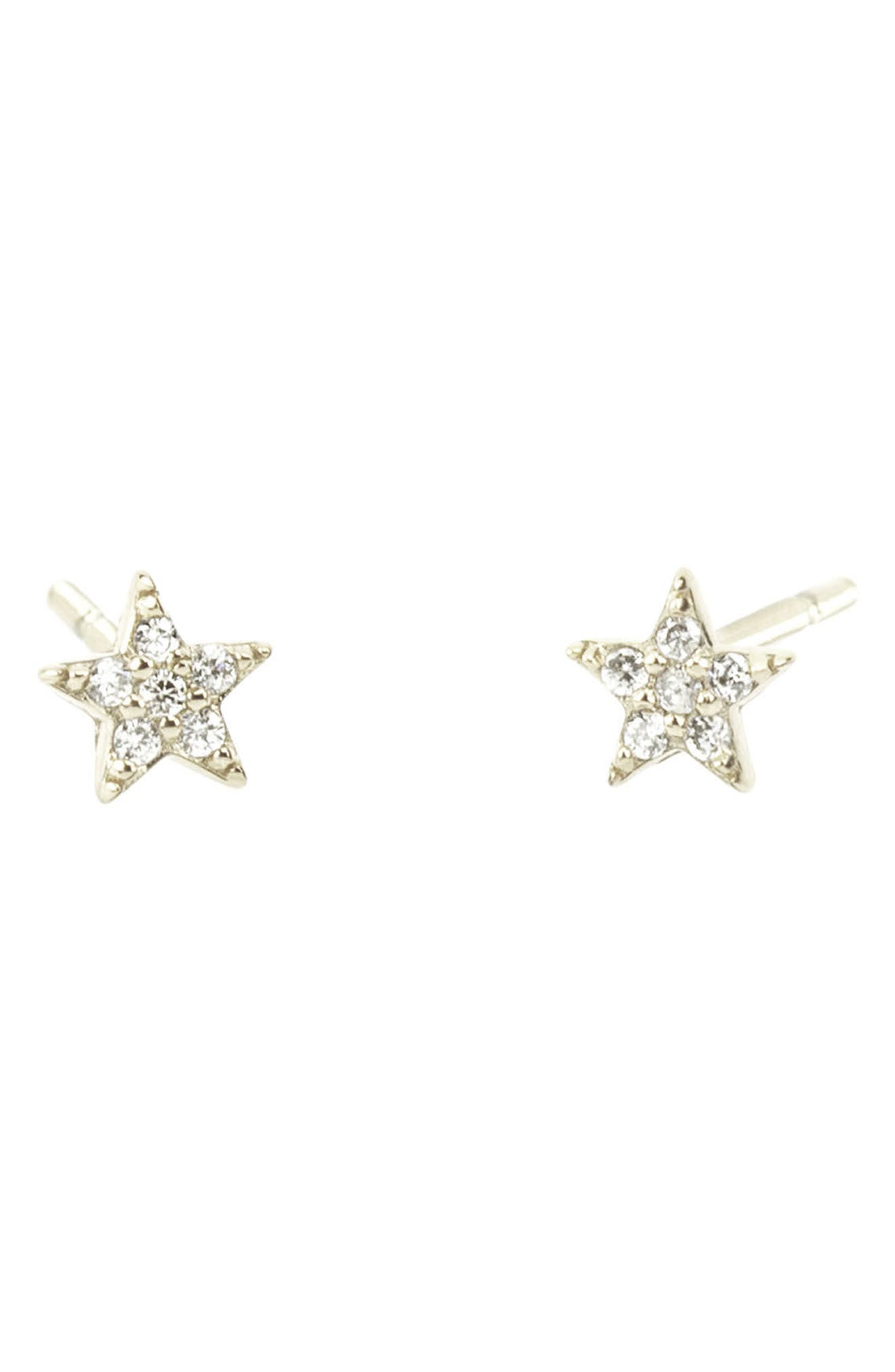Pavé Star Stud Earrings,                             Main thumbnail 1, color,                             040