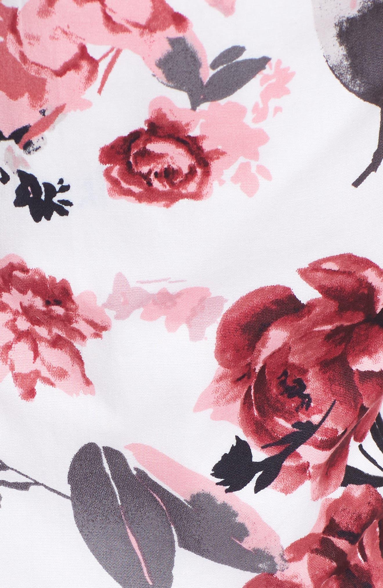 Halter Fit & Flare Dress,                             Alternate thumbnail 5, color,                             001