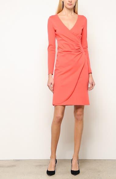 Punto Milano Faux Wrap Dress, video thumbnail