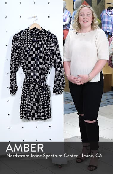 Polka Dot Single Breasted Trench Coat, sales video thumbnail