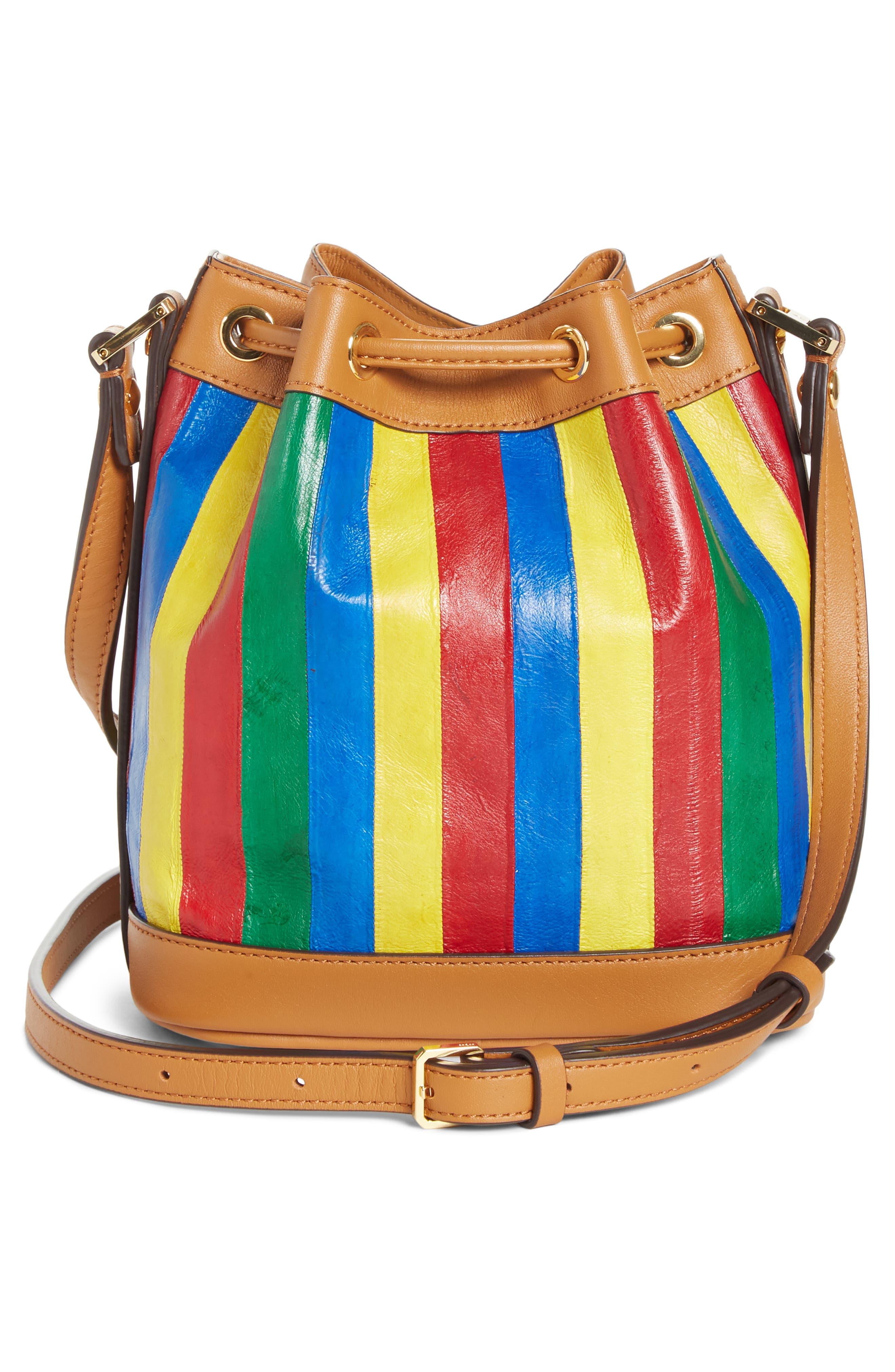 Mini Bucket Bag,                             Alternate thumbnail 3, color,                             MULTI