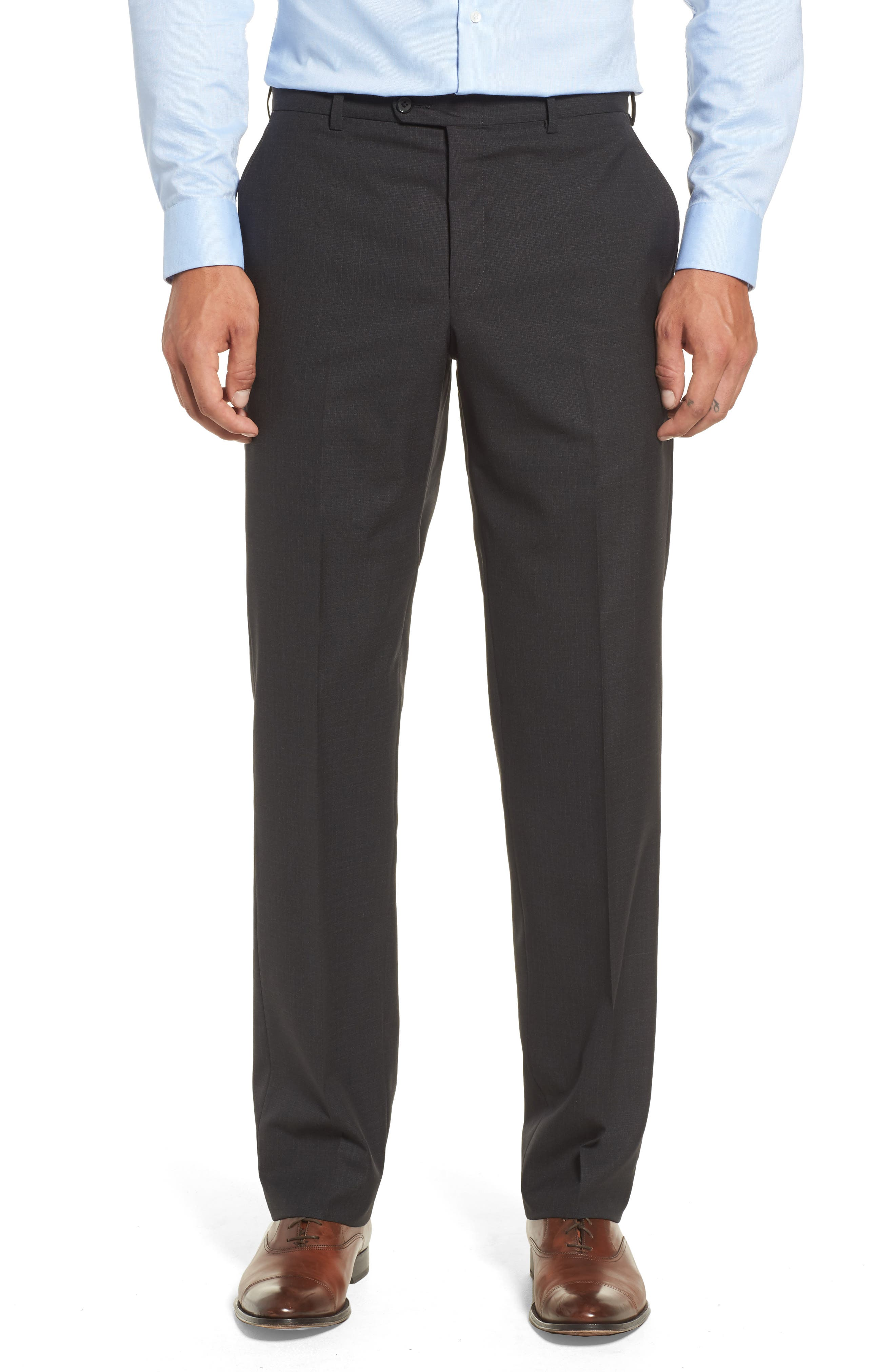 Classic B Fit Check Wool Suit,                             Alternate thumbnail 6, color,                             020
