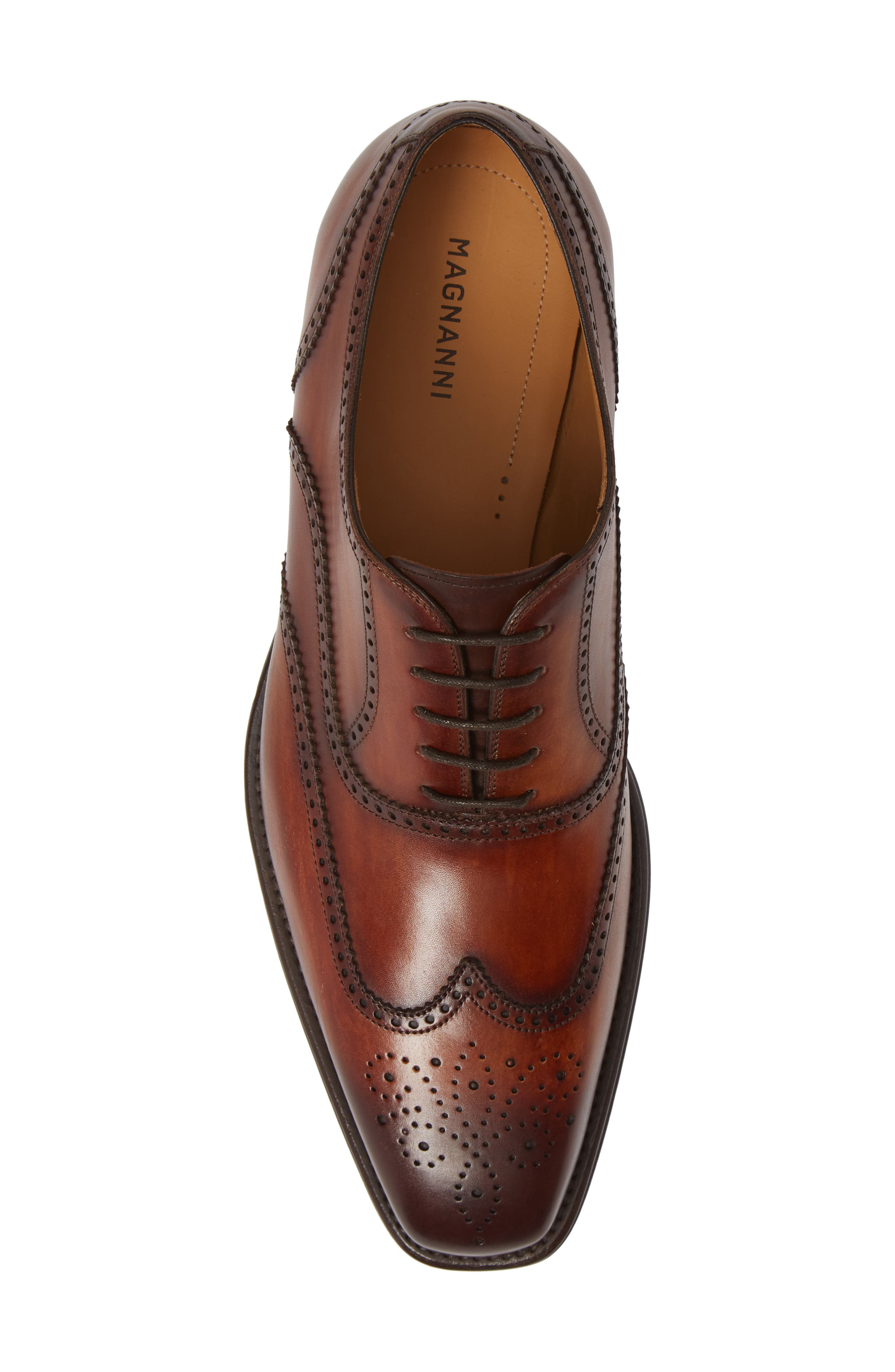 Ledger Wingtip,                             Alternate thumbnail 5, color,                             COGNAC LEATHER