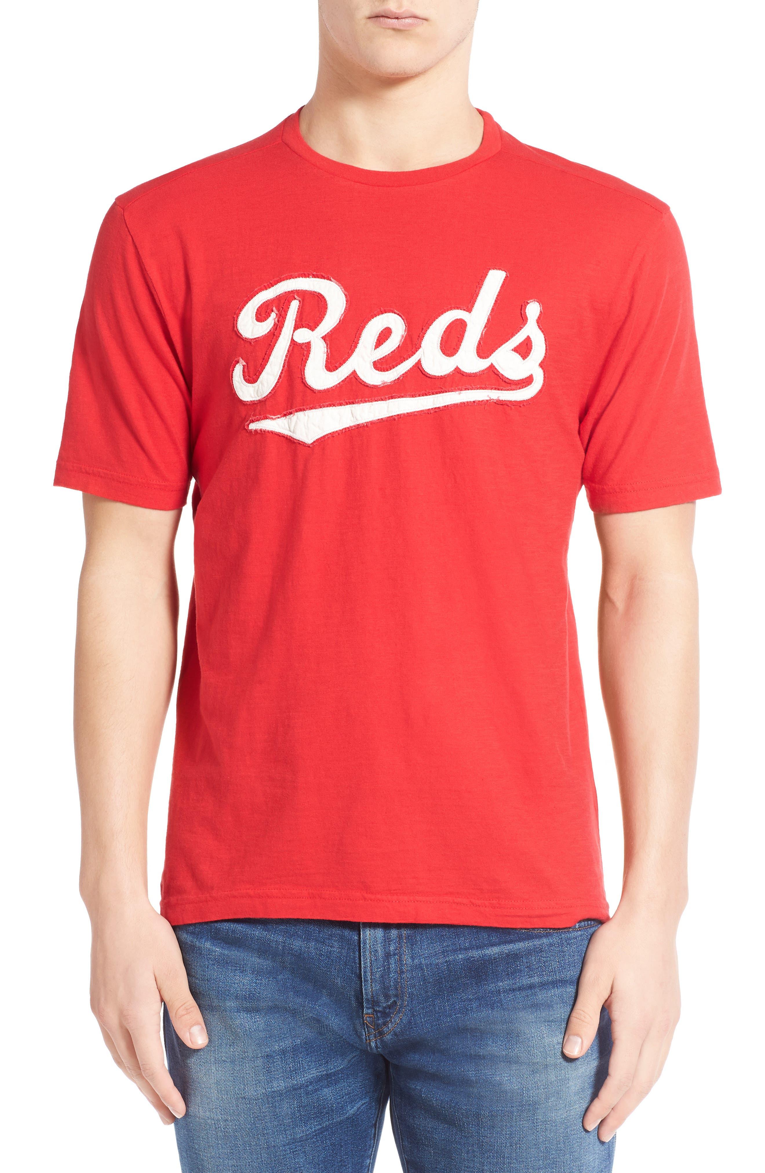 'Cincinnati Reds - Twofold' Crewneck T-Shirt,                             Alternate thumbnail 6, color,                             600