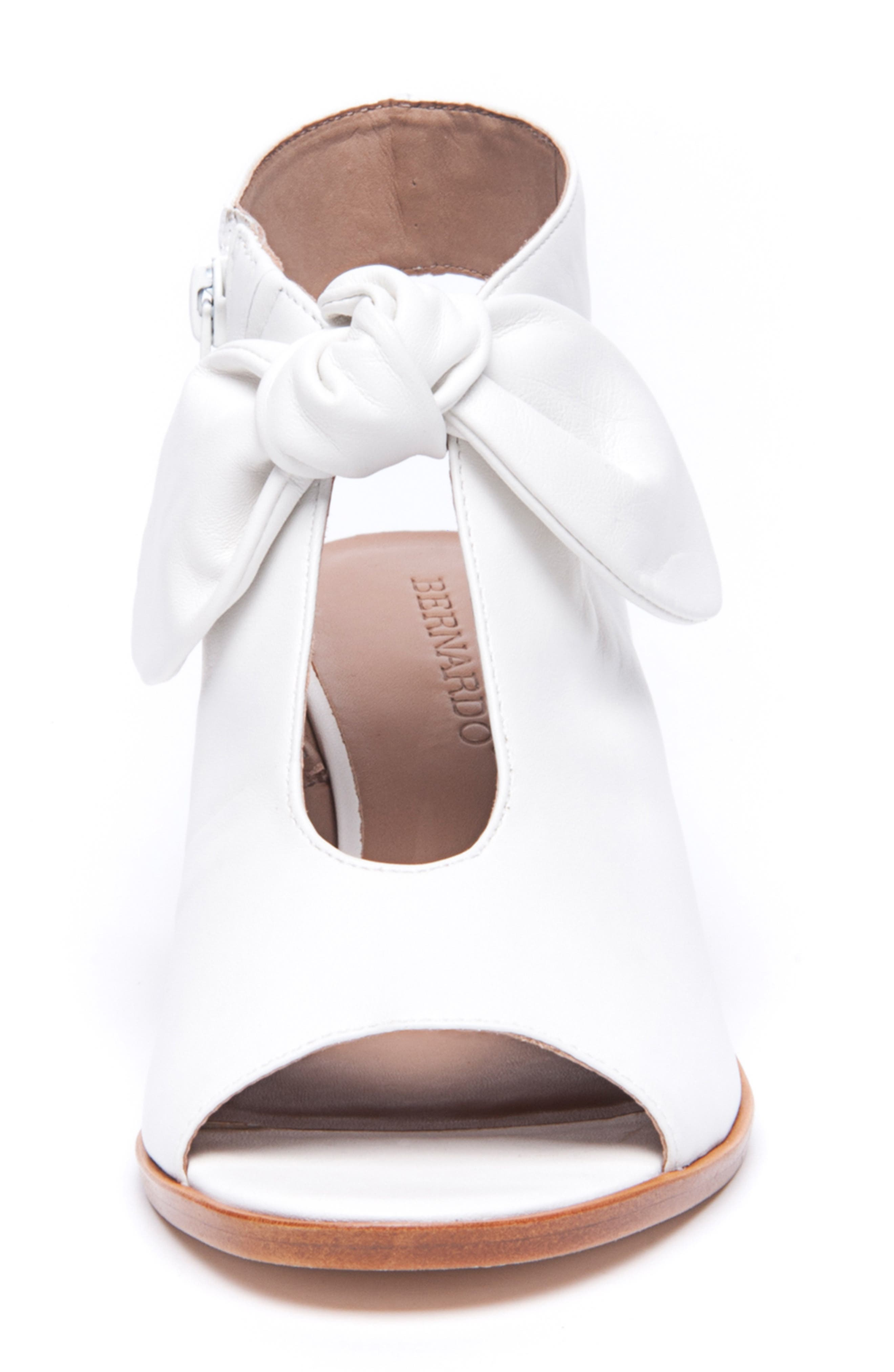 Bernardo Luna Sandal,                             Alternate thumbnail 4, color,                             WHITE LEATHER