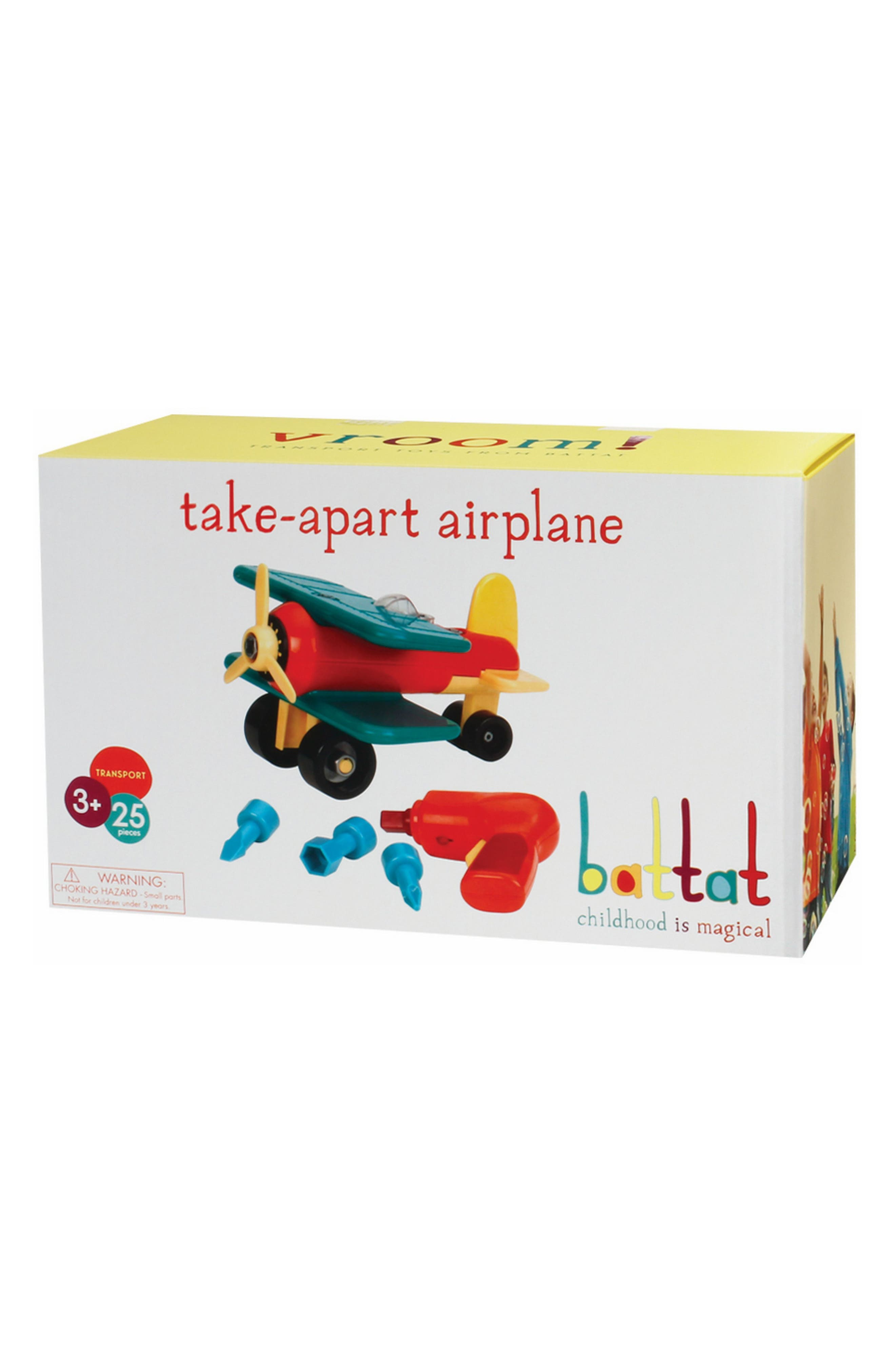 Battat 21-Piece Take-Apart Airplane Kit,                             Main thumbnail 1, color,