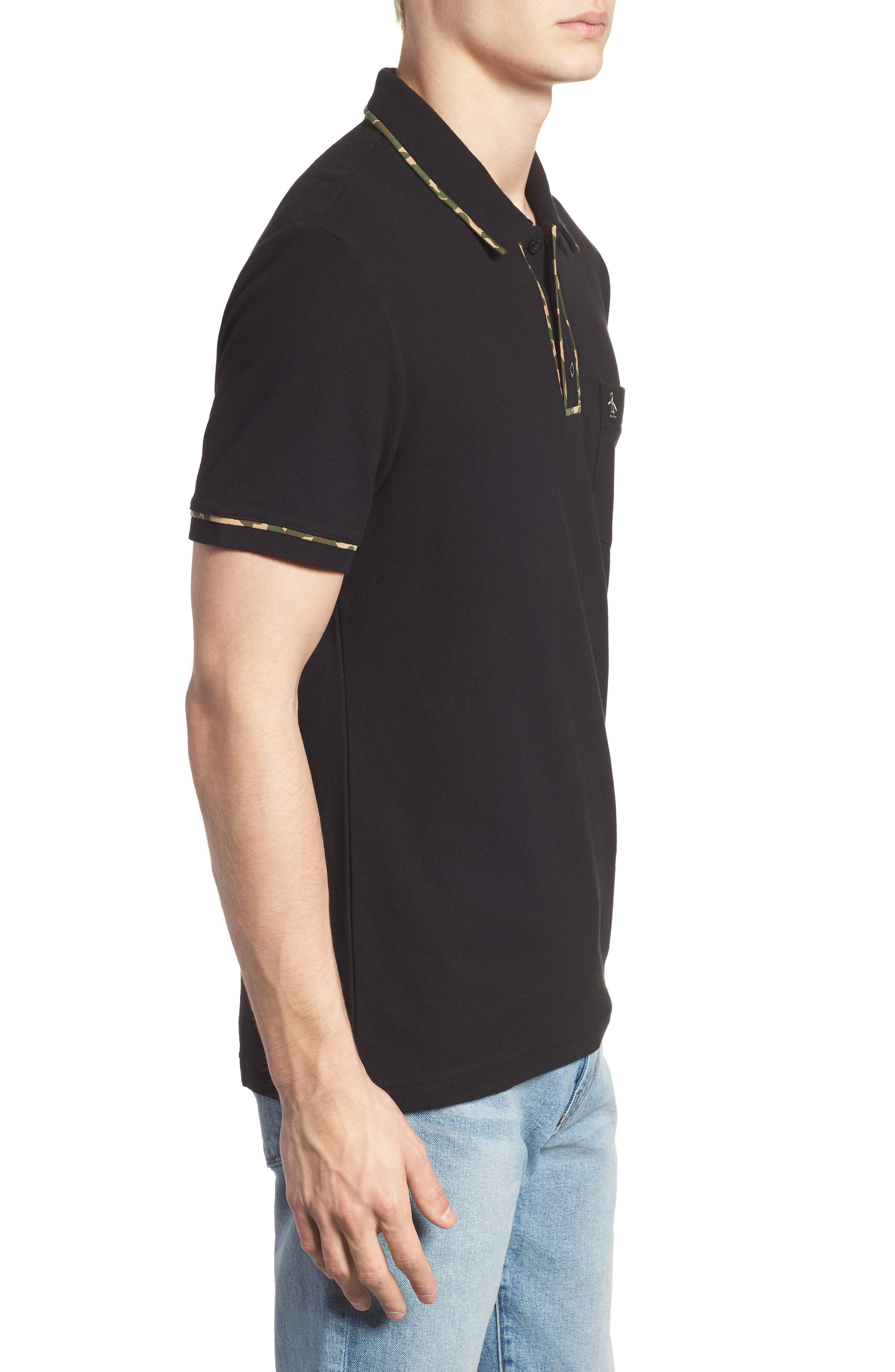 Earl Camo Trim Polo,                             Alternate thumbnail 3, color,                             010