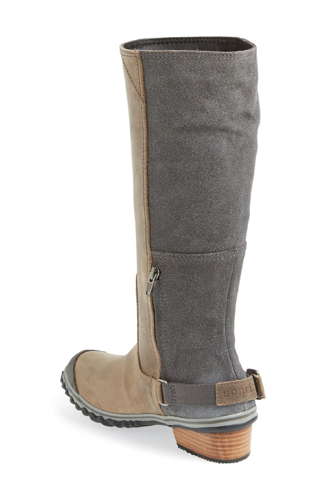 'Slim' Waterproof Tall Boot,                             Alternate thumbnail 4, color,                             008