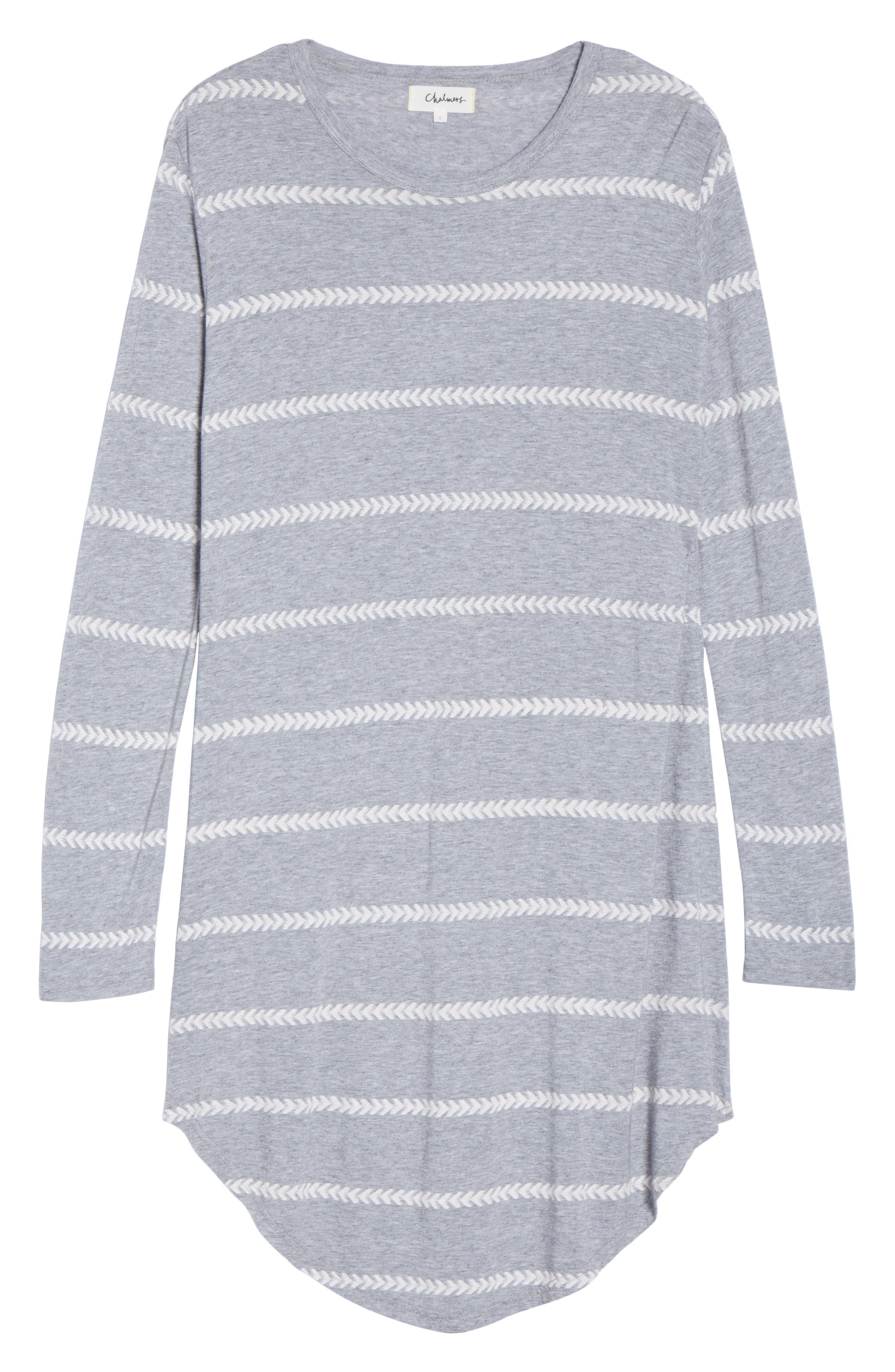 Wednesday Stripe Sleep Shirt,                             Alternate thumbnail 6, color,                             020