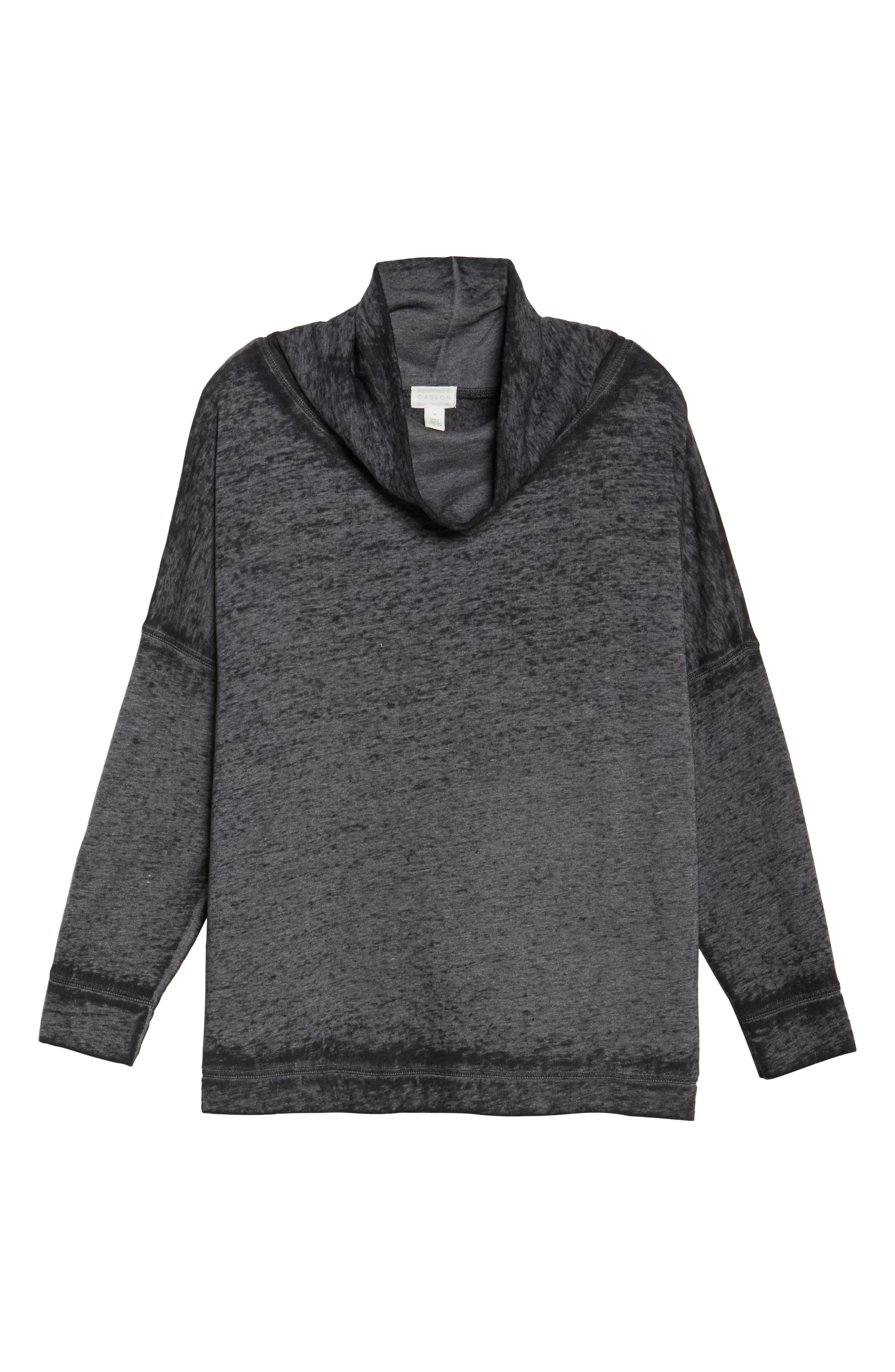 Pleat Back Sweatshirt,                             Alternate thumbnail 6, color,                             001