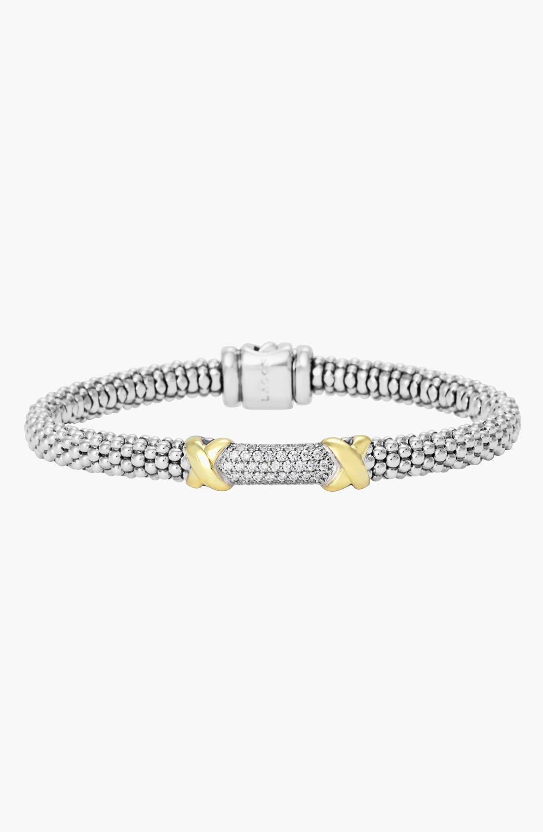 'Diamond Lux' Diamond Rope Bracelet,                             Alternate thumbnail 4, color,                             040