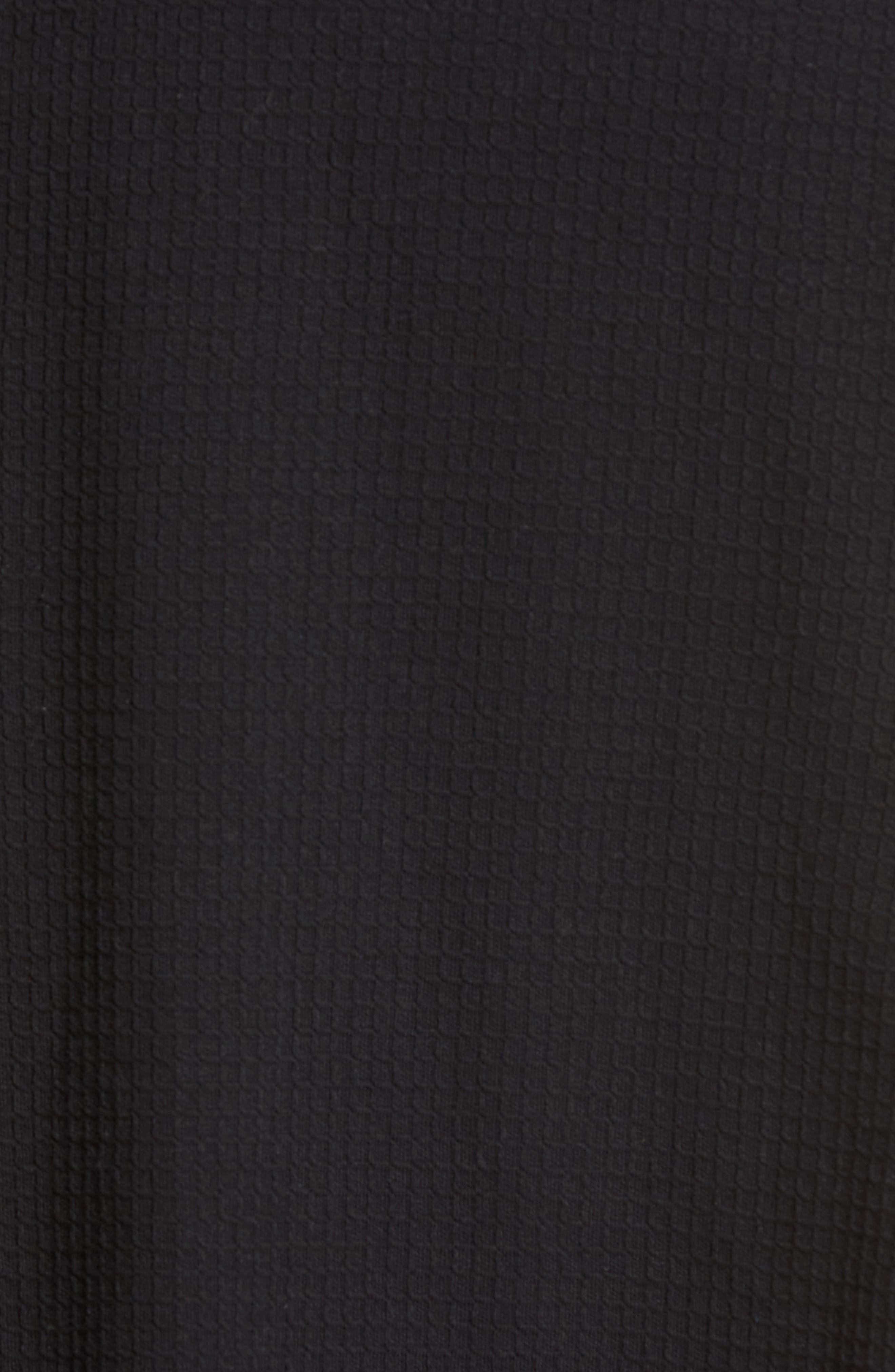 Waffle Knit Robe,                             Alternate thumbnail 5, color,                             BLACK