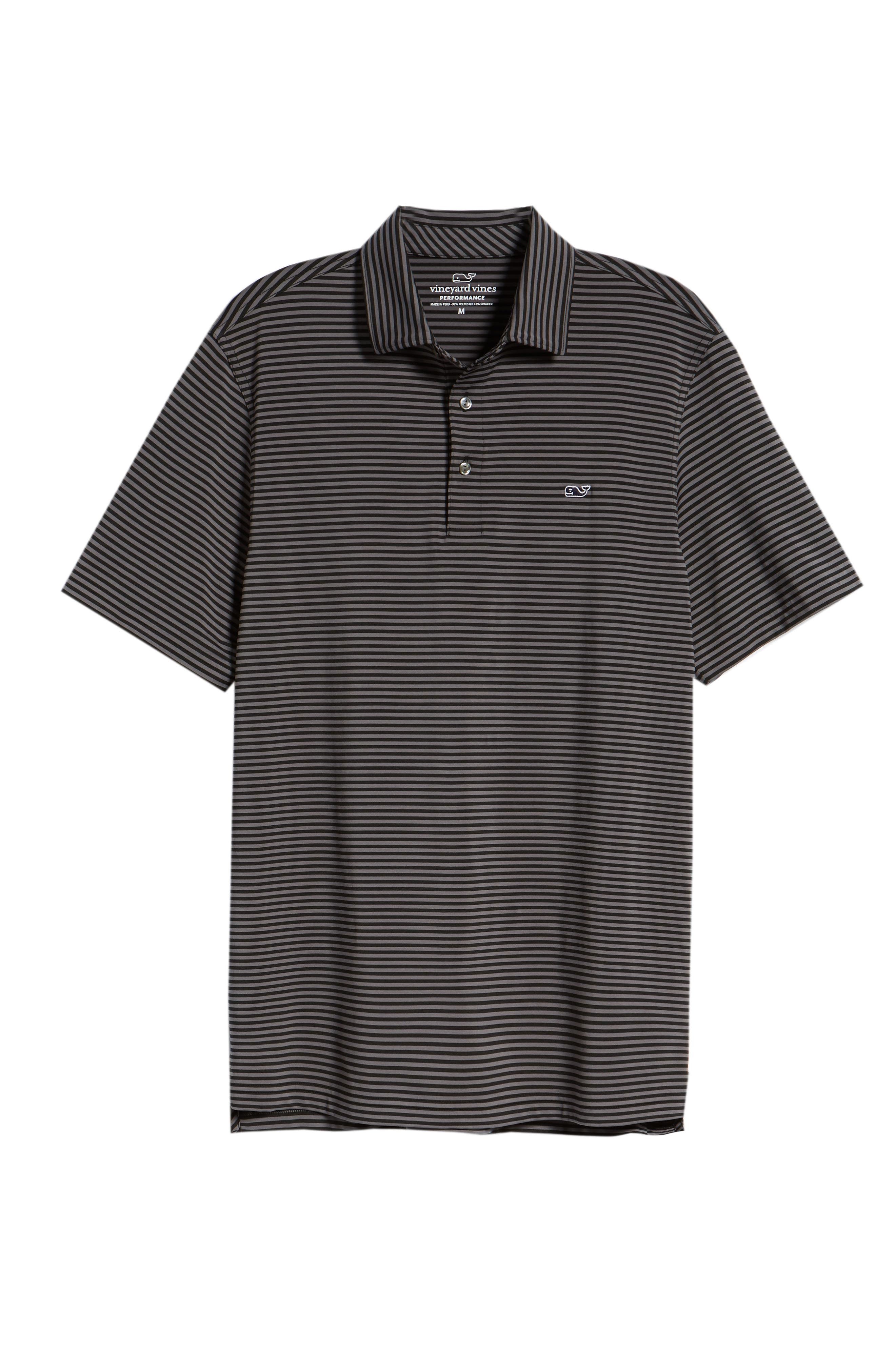 Kennedy Stripe Golf Polo,                             Alternate thumbnail 6, color,                             002