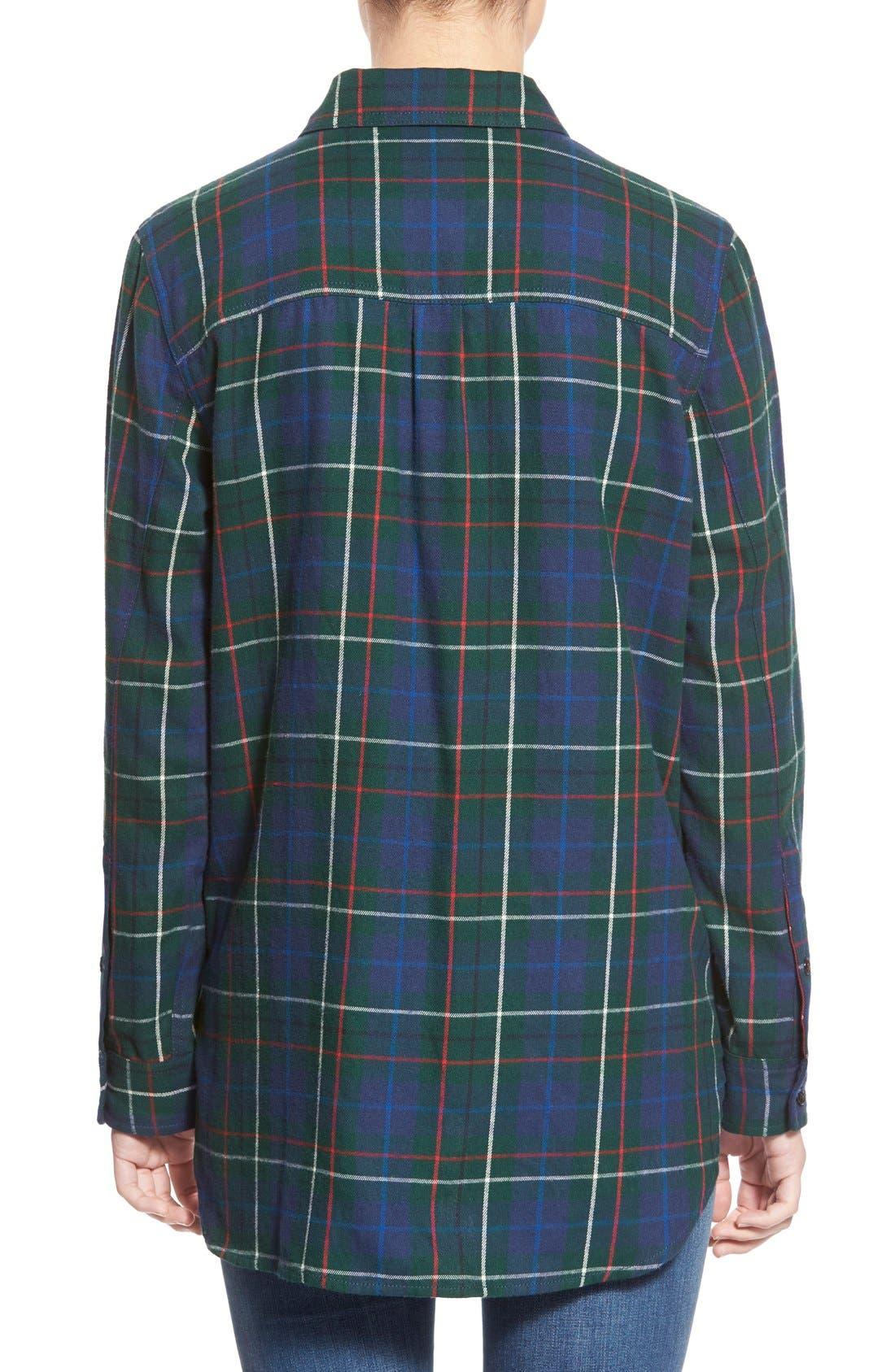 Ex Boyfriend - Ontario Plaid Flannel Shirt,                             Alternate thumbnail 2, color,