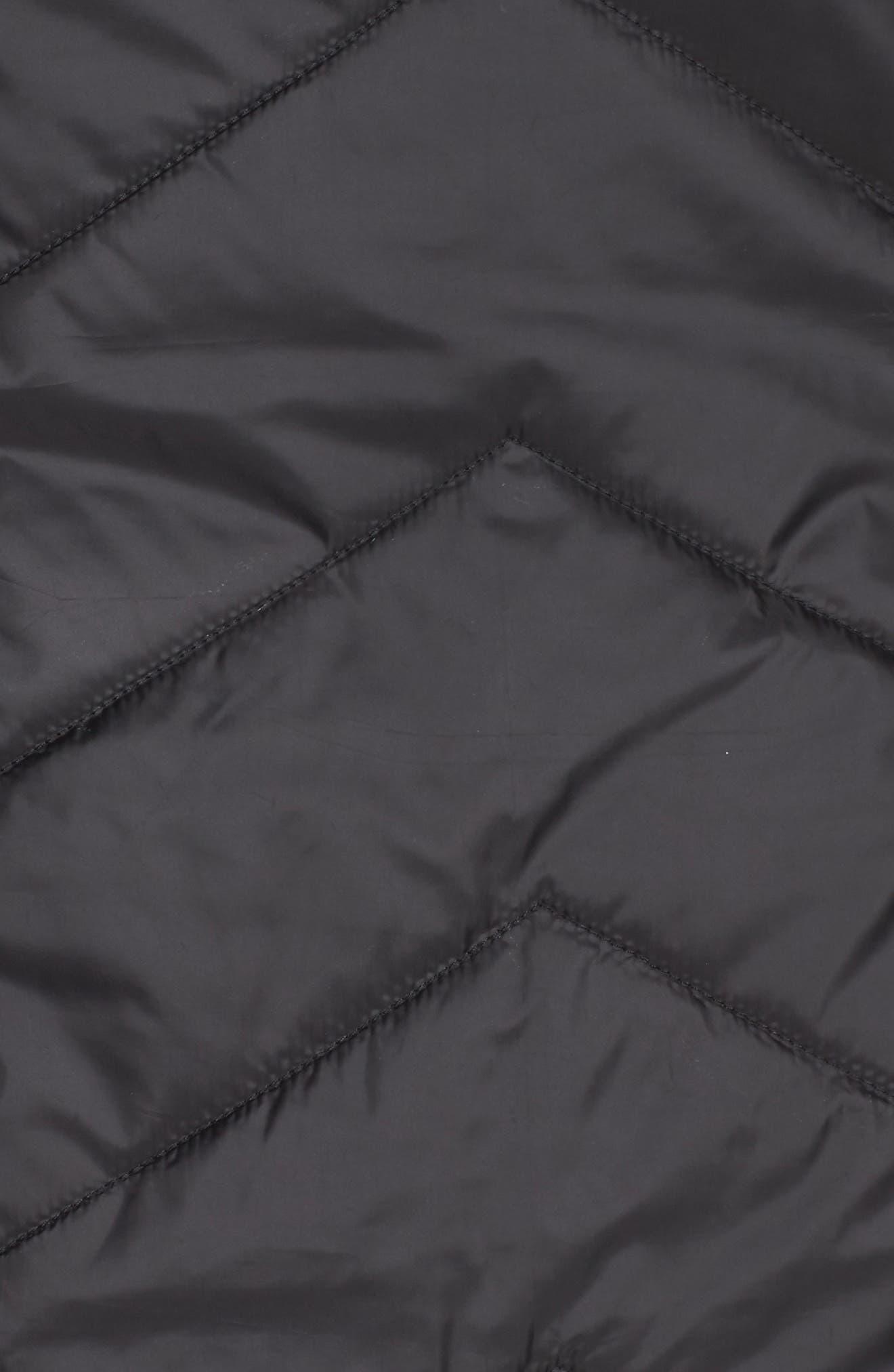 Reversible Faux Fur Vest,                             Alternate thumbnail 6, color,                             001