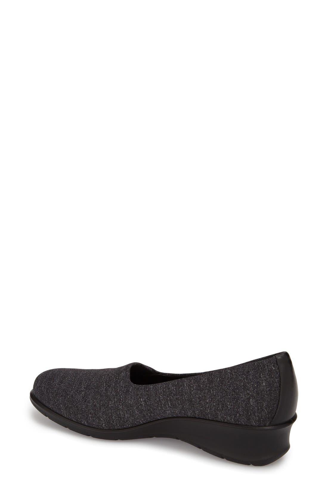 'Felicia - Stretch' Wedge Loafer,                             Alternate thumbnail 2, color,                             019