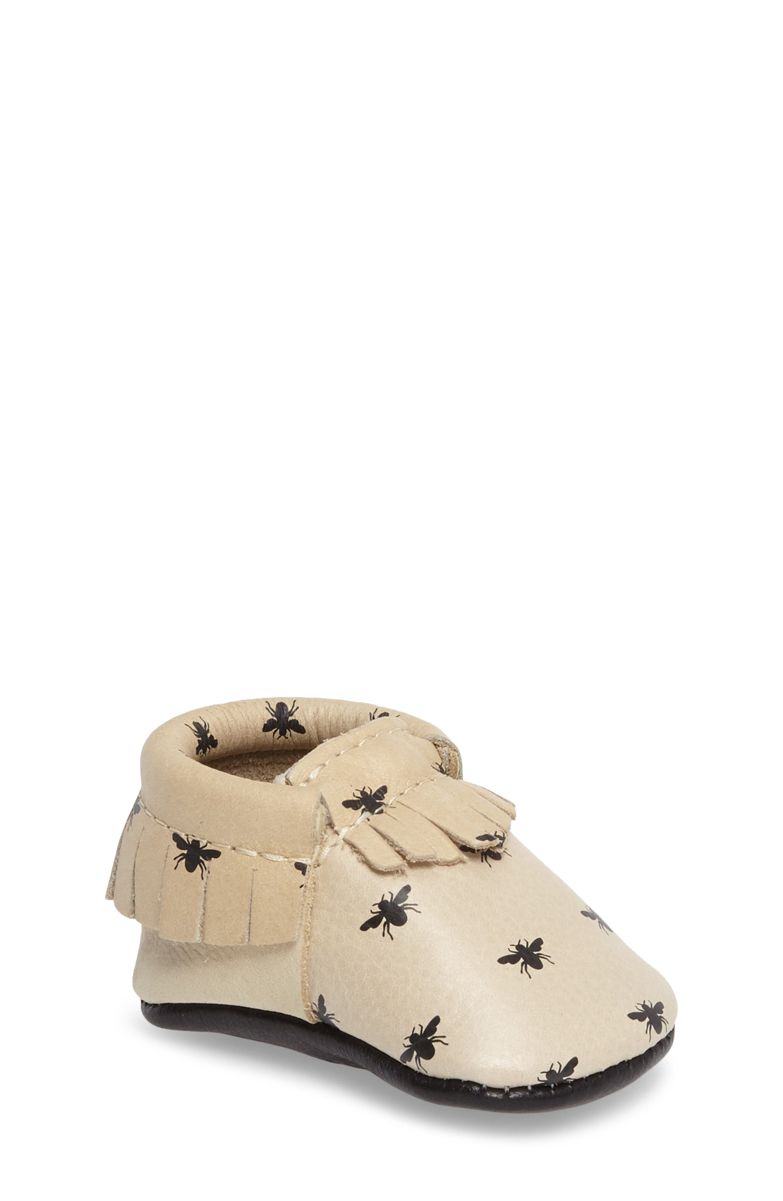 Honeybee Print Moccasin,                         Main,                         color, 250