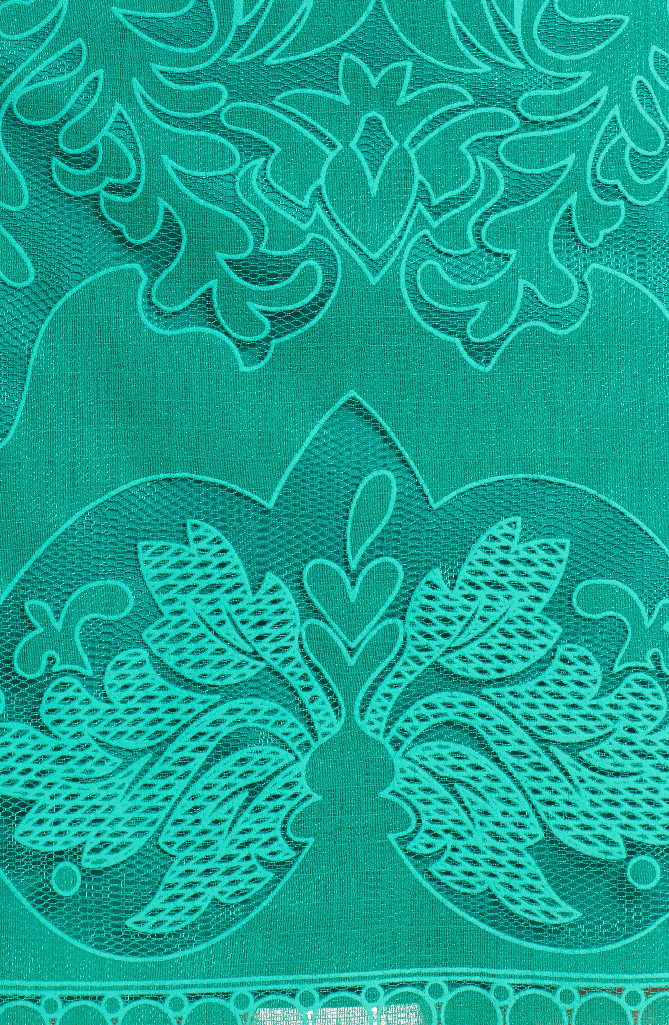 A-Line Dress,                             Alternate thumbnail 5, color,                             GREEN